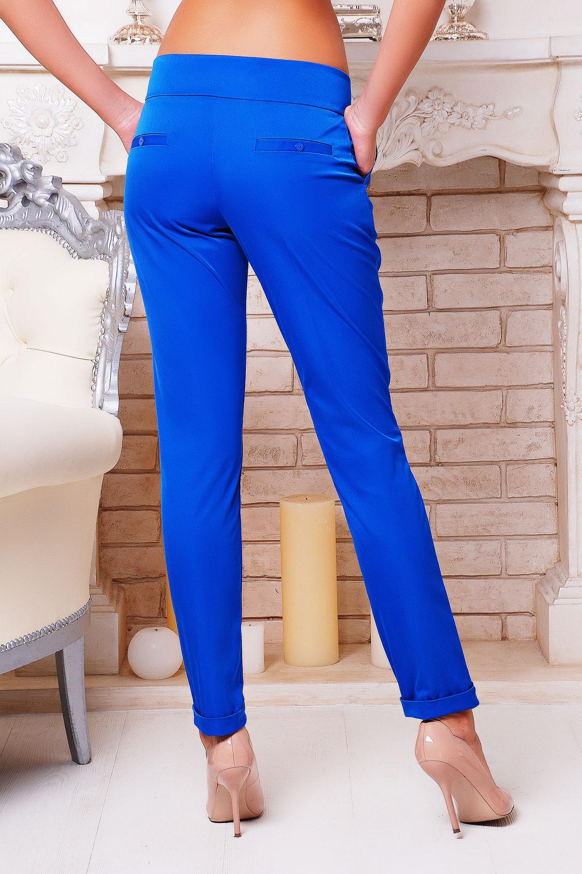 женские темно-синие брюки. брюки Хилори. Цвет: электрик