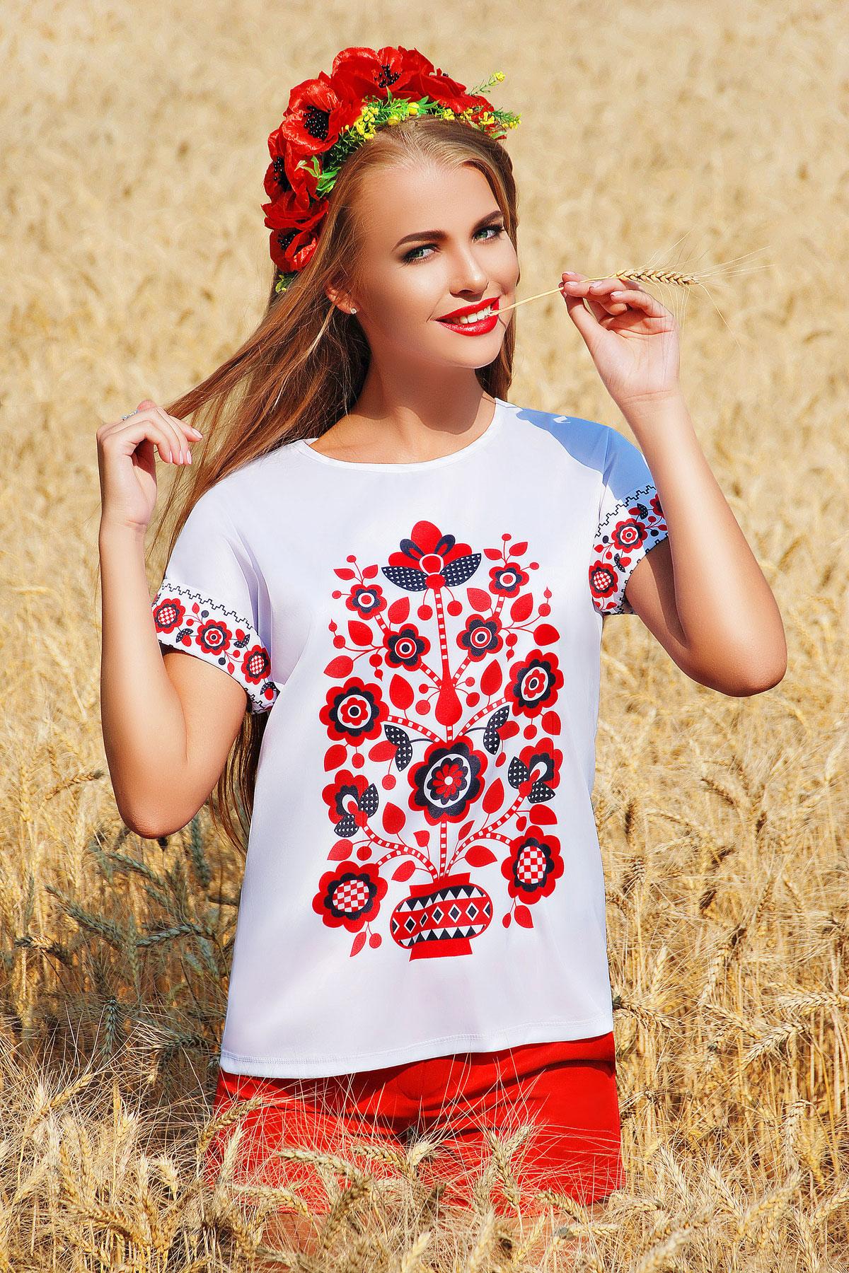 Узор цветы блуза Кимоно 2Н к/р