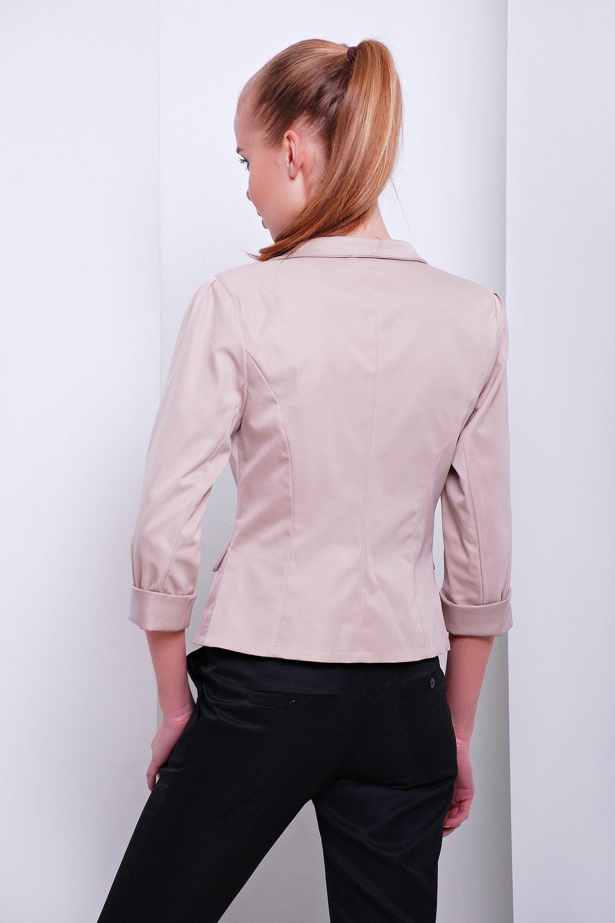 короткий красный пиджак. пиджак Рандеву. Цвет: св.бежевый-беж. отделка