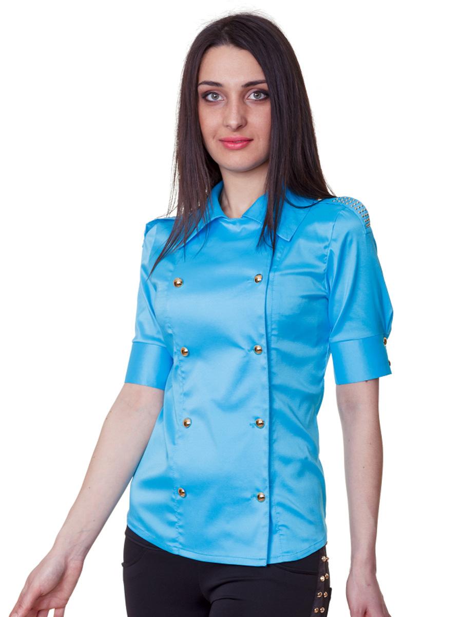 . блуза Эстель к/р. Цвет: голубой