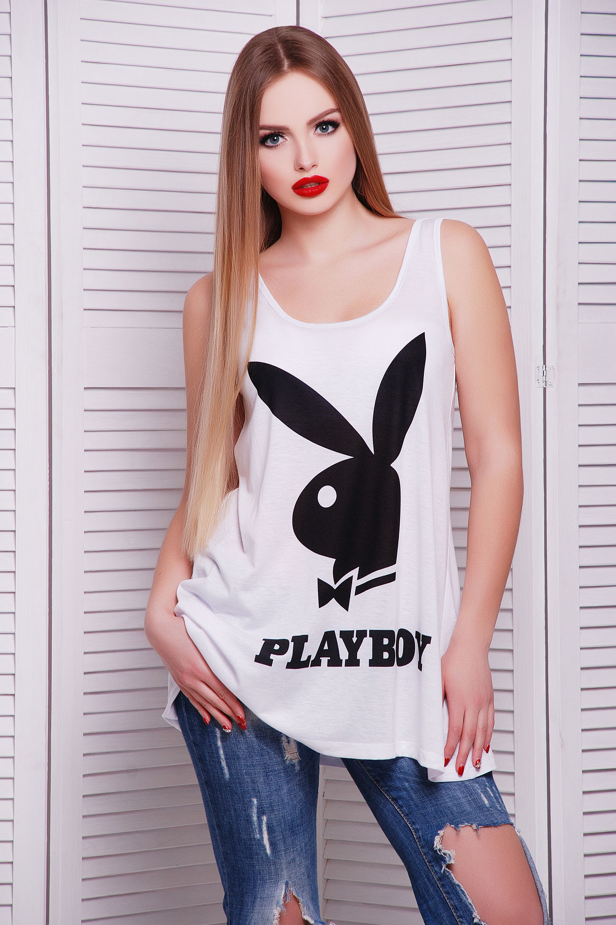 Playboyчерный майка Классик