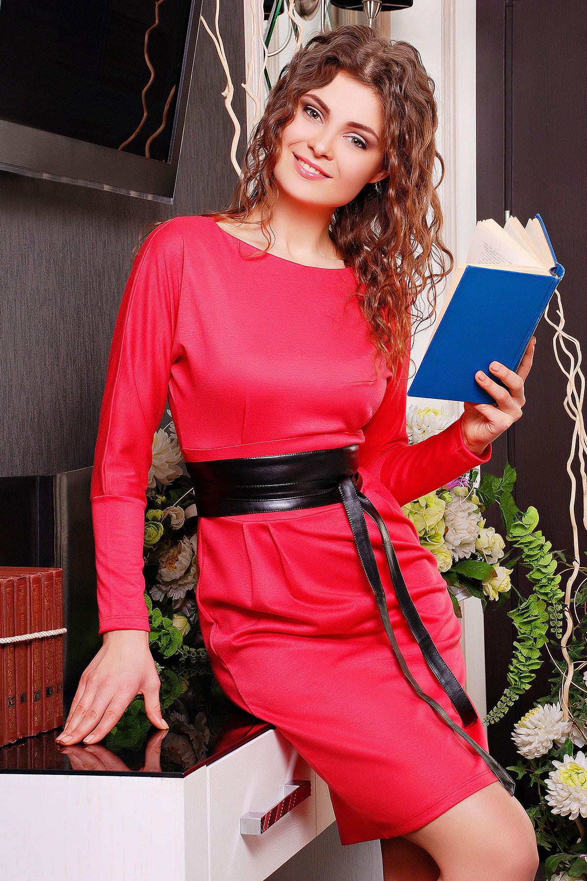 . платье Эвелина д/р. Цвет: коралл