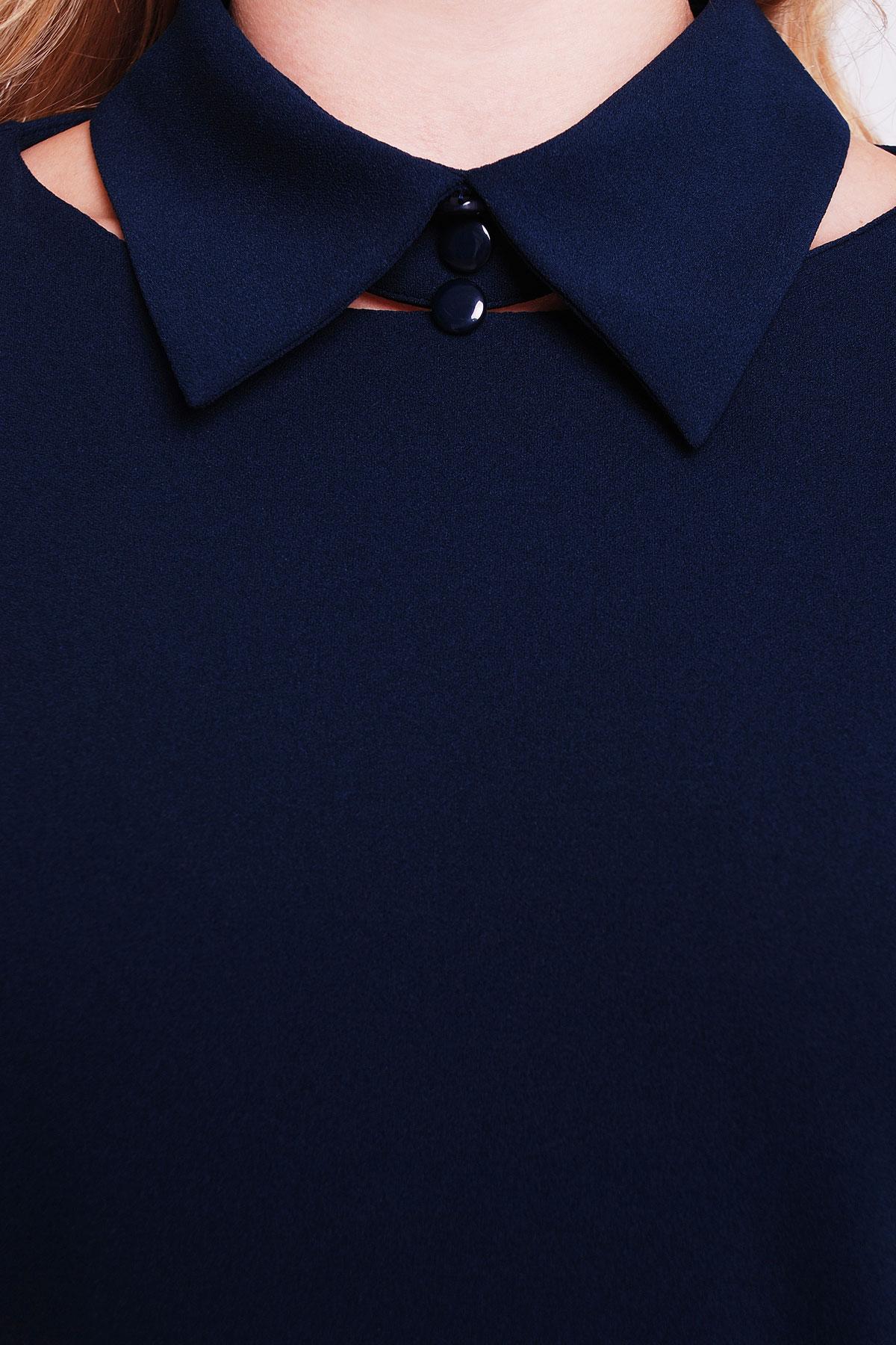 деловое черное платье большого размера. платье Элина-Б д/р. Цвет: темно синий