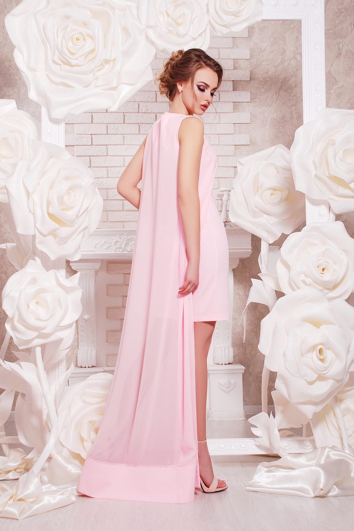 темно-синее платье-двойка на выпускной. платье Ясмина б/р. Цвет: розовый