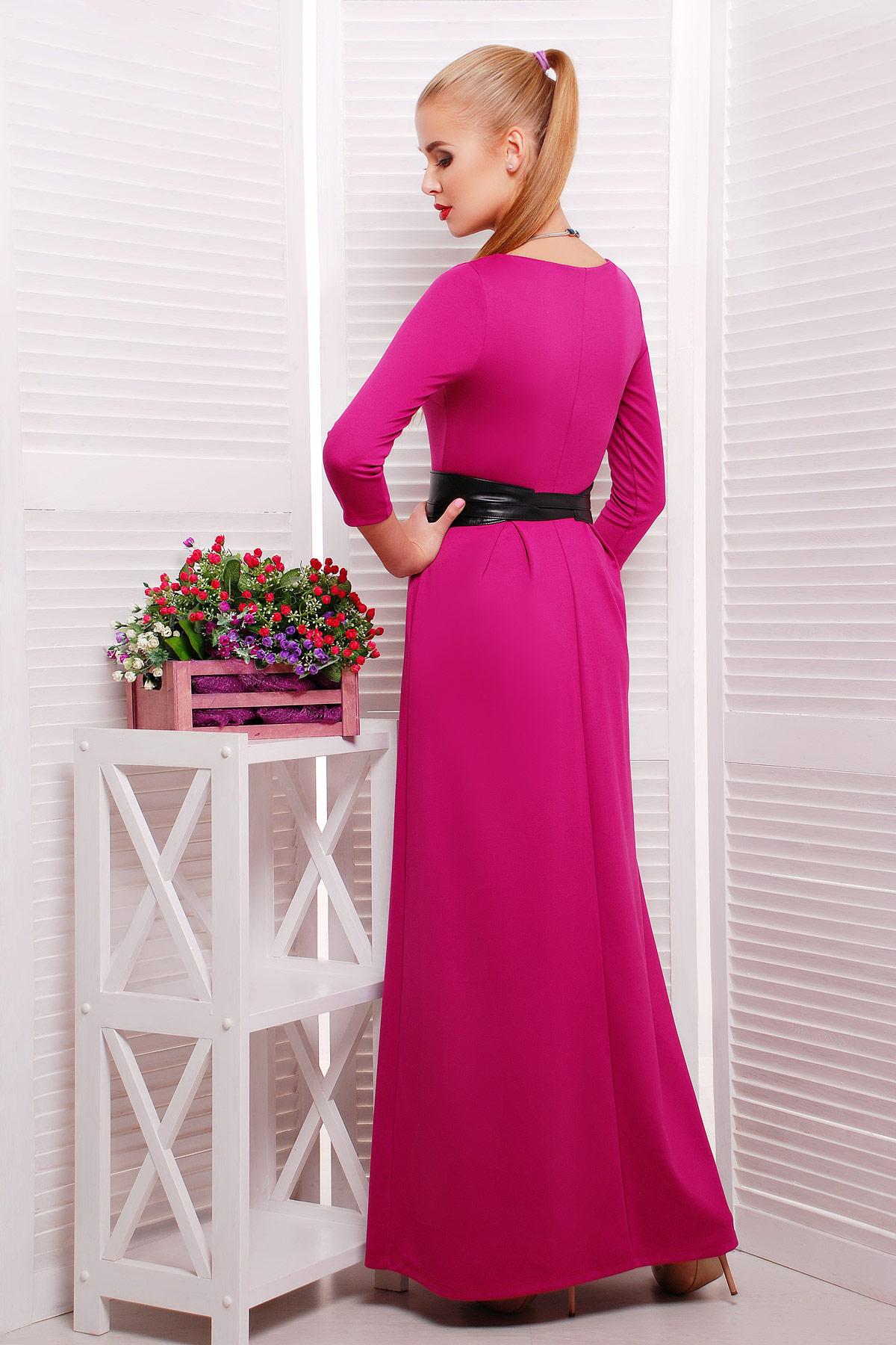 . платье Шарли3 д/р. Цвет: фуксия