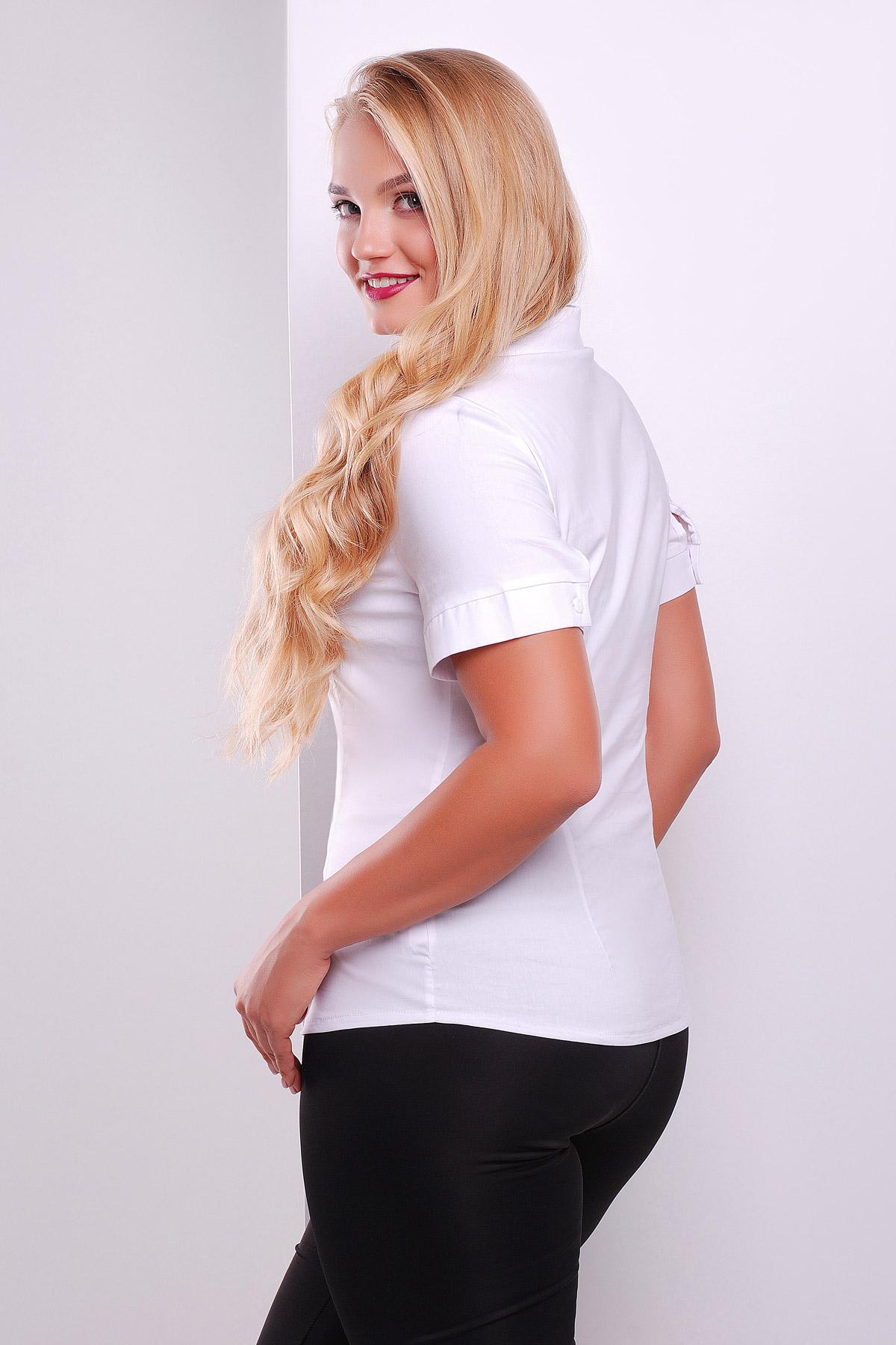 Белые блузки купить больших размеров