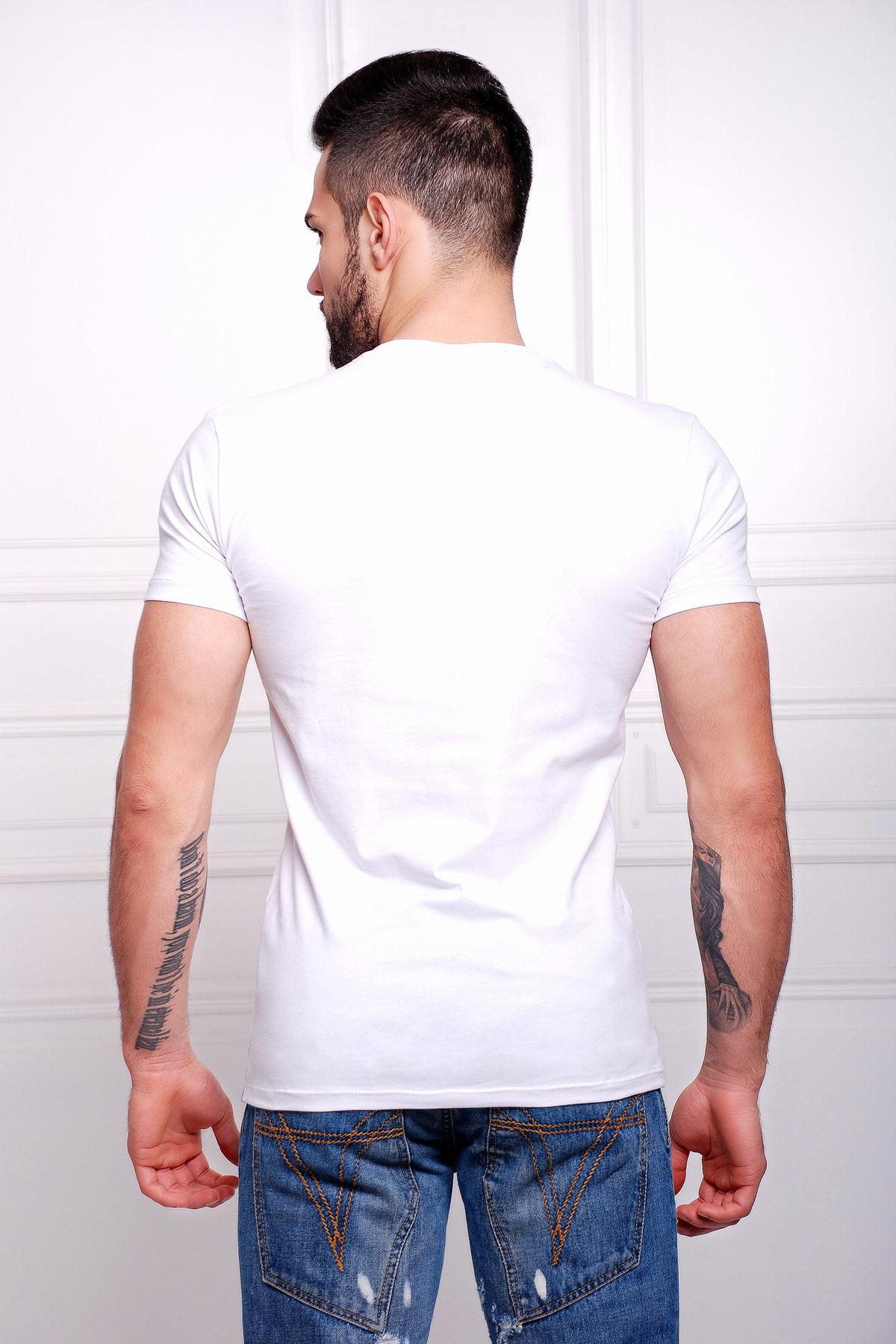 мужская футболка из вискозы с прикольным принтом. Борода Футболка Men-2В. Цвет: принт