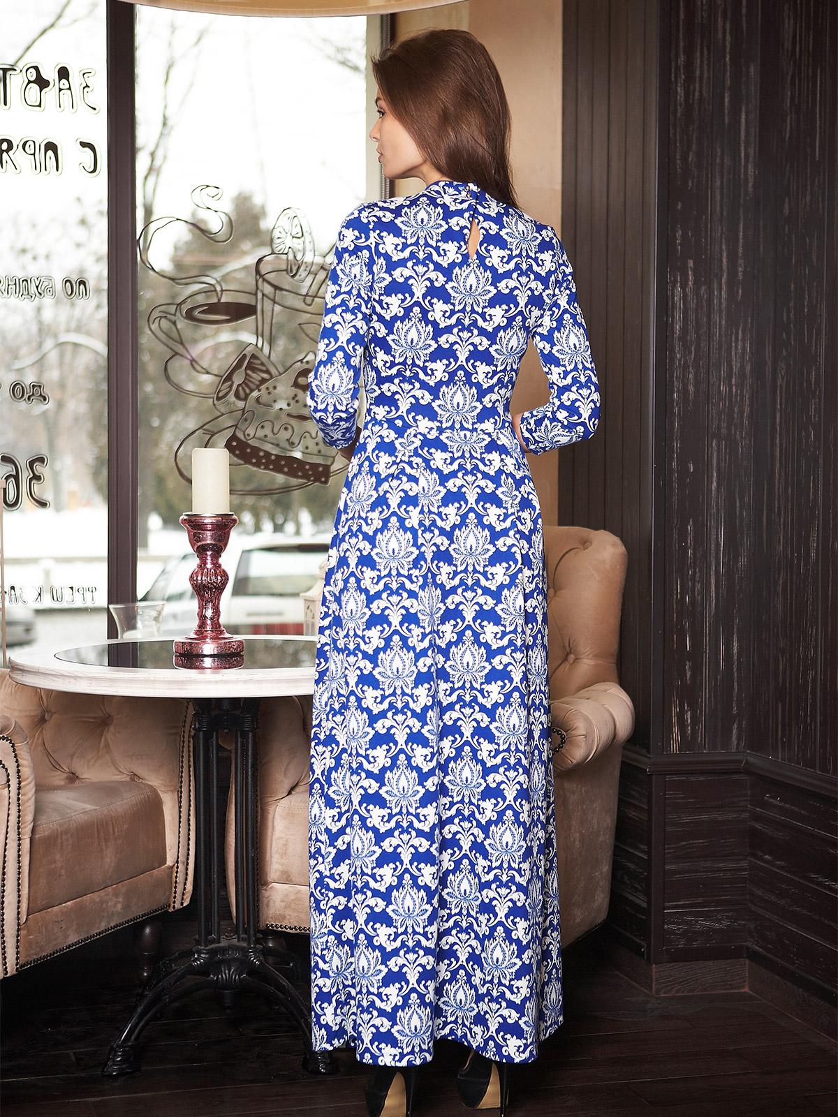. платье Шарлота д/р. Цвет: электрик-узор