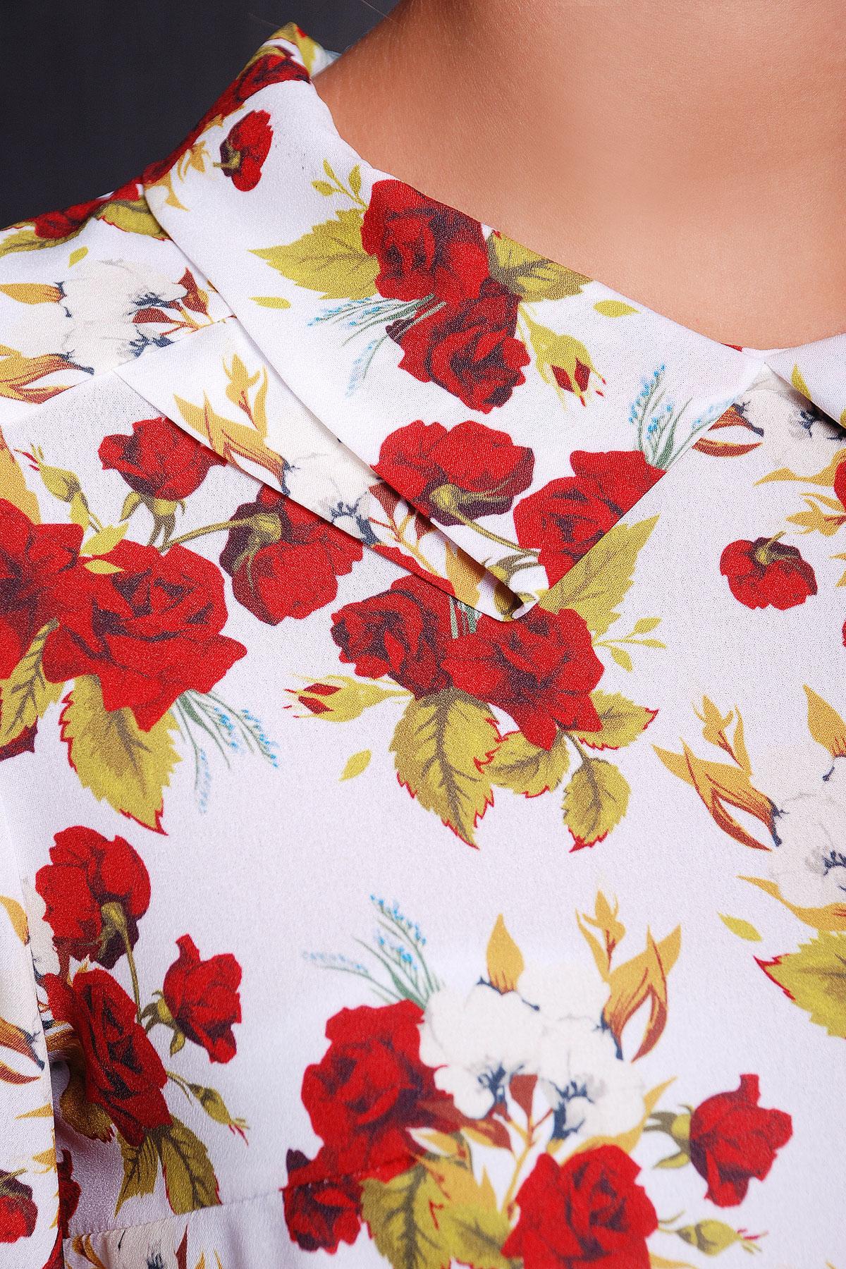 Роза красная блуза Тамила1 д/р