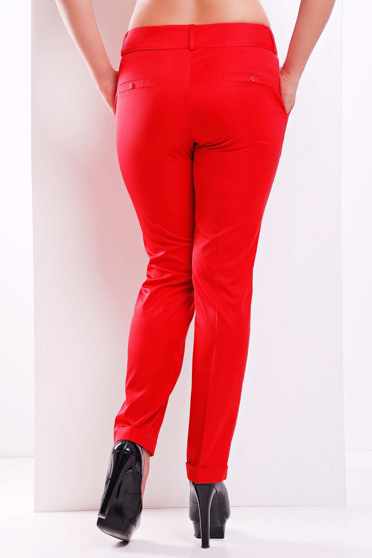 большие женские брюки. брюки Хилори-Б. Цвет: красный