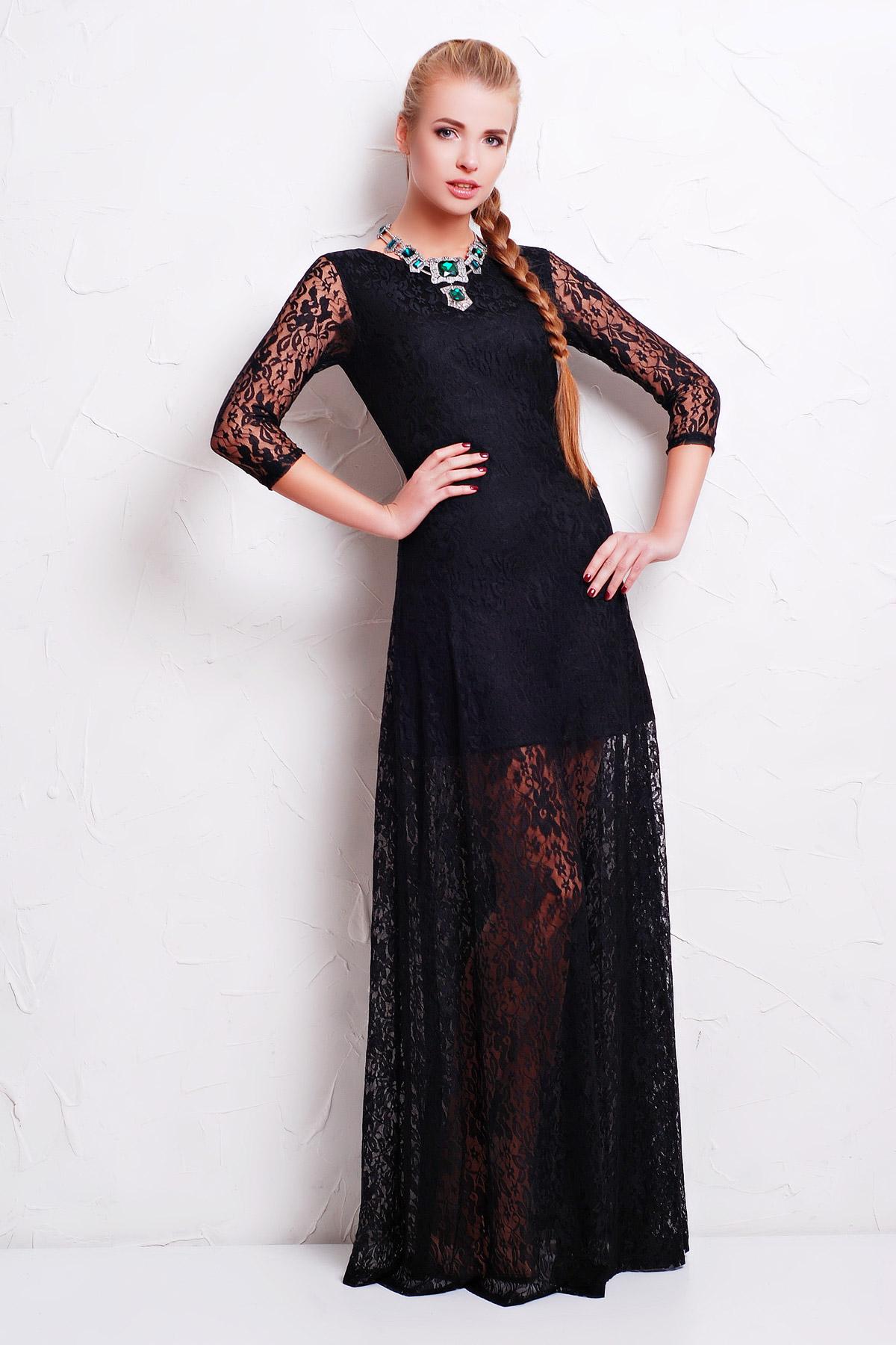 платья с гипюра на моделях фото