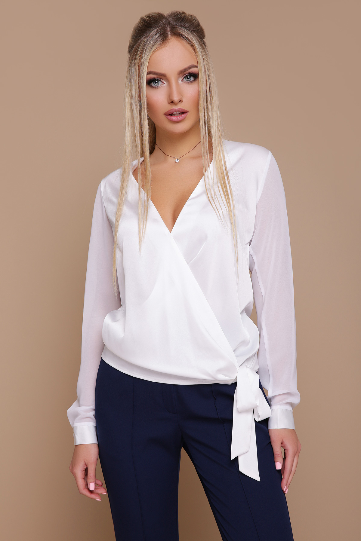 4d3f2d5610d блуза Божена д р. Цвет  белый