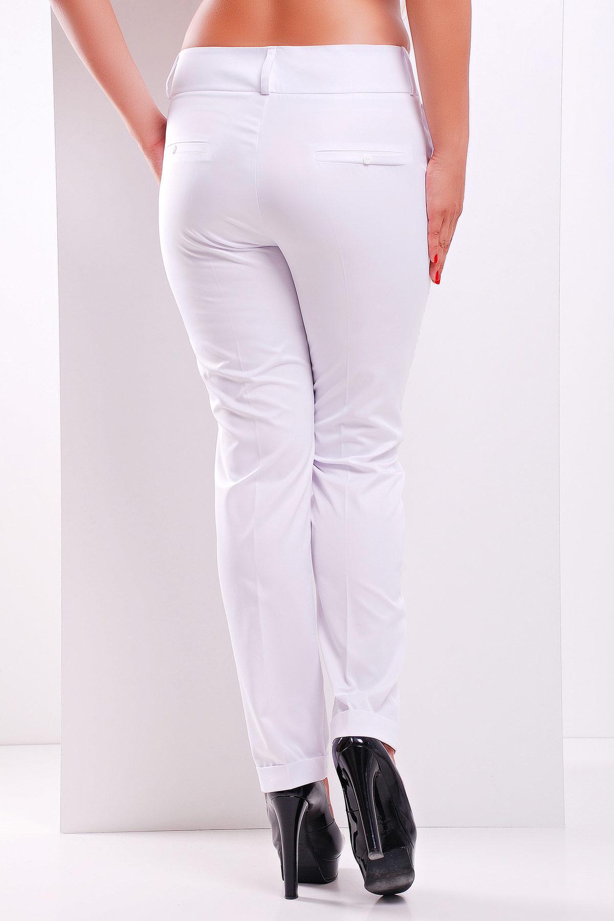 большие женские брюки. брюки Хилори-Б. Цвет: белый