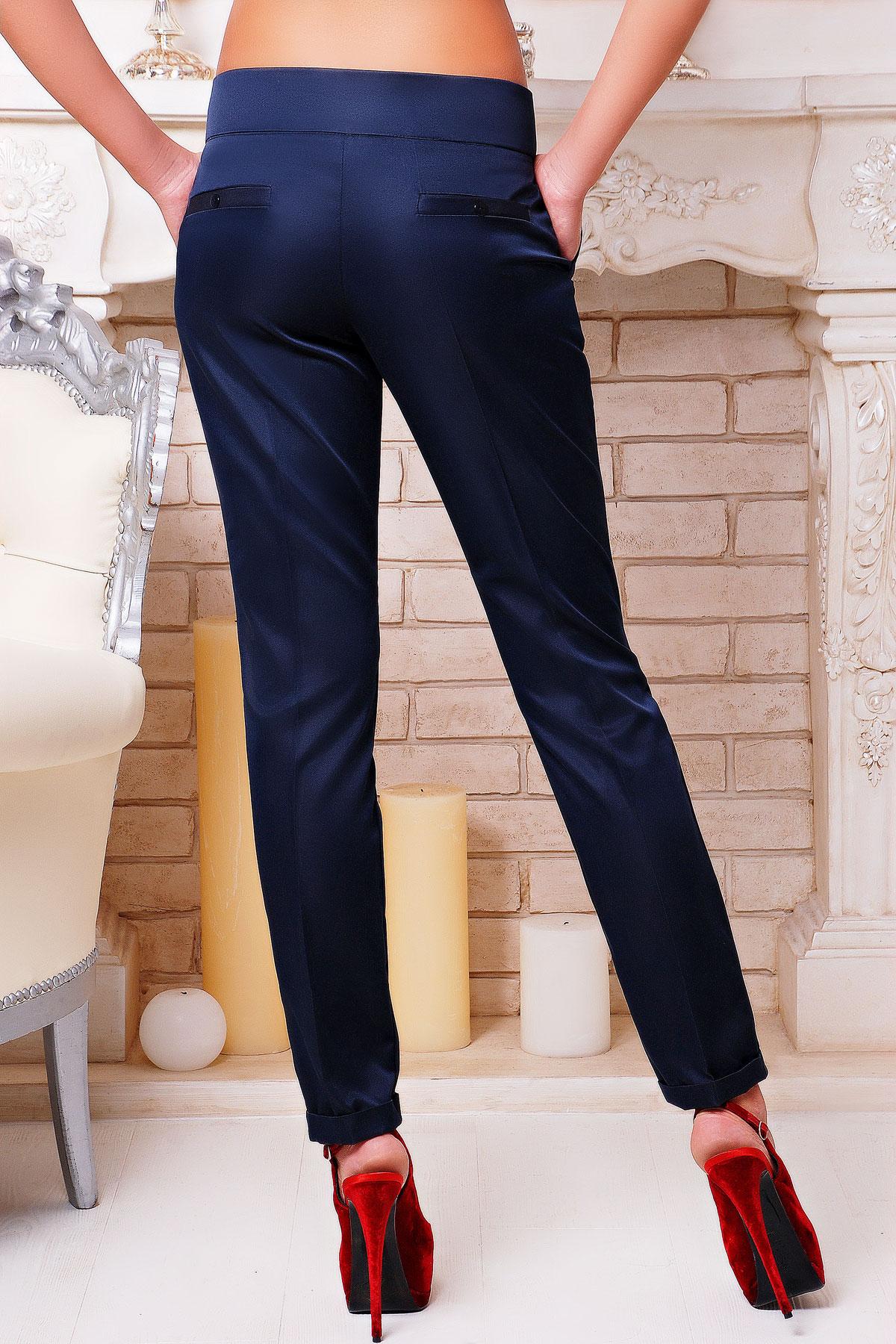 женские темно-синие брюки. брюки Хилори. Цвет: темно синий