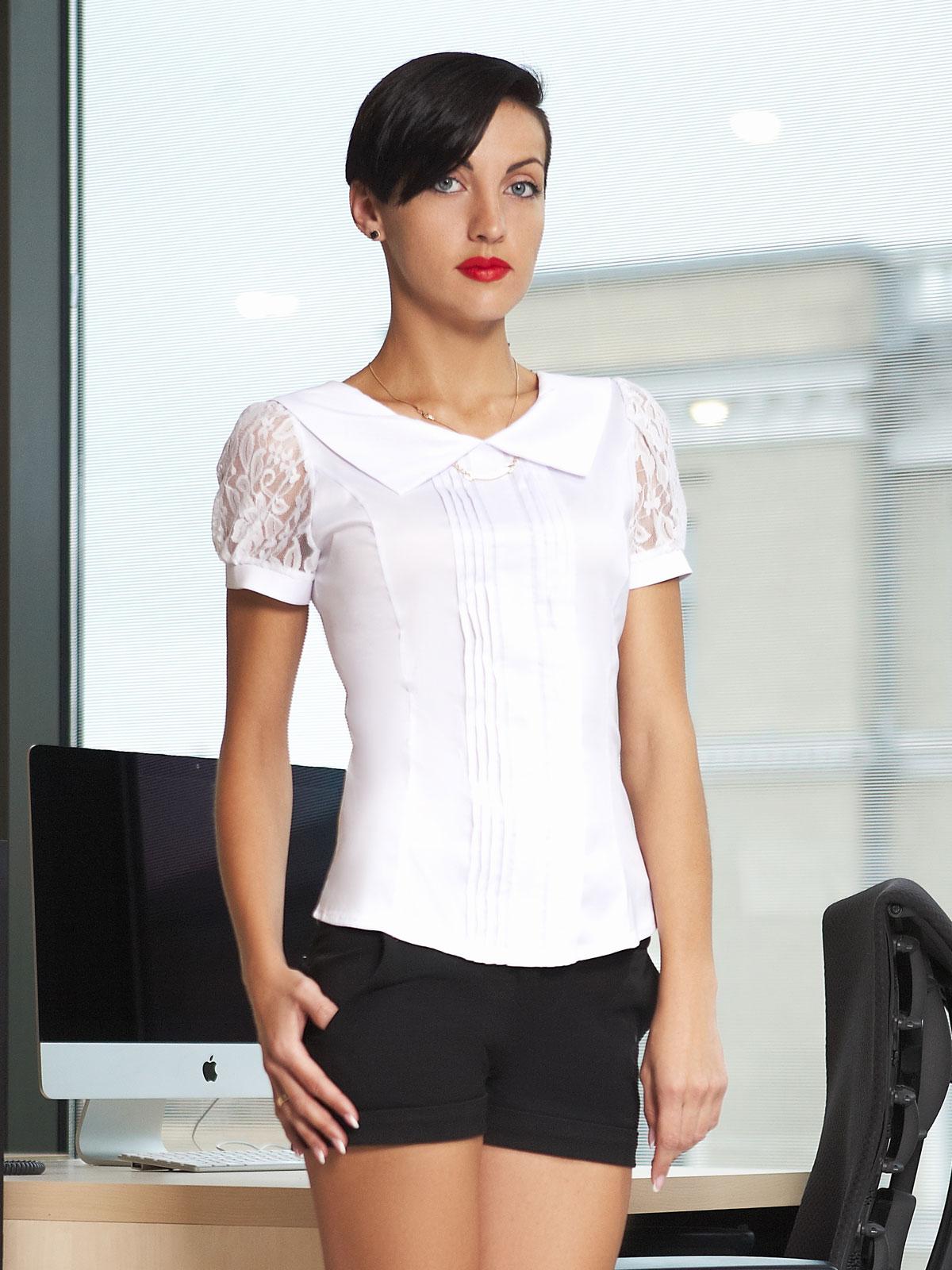 блуза Грейс к/р. Цвет: белый