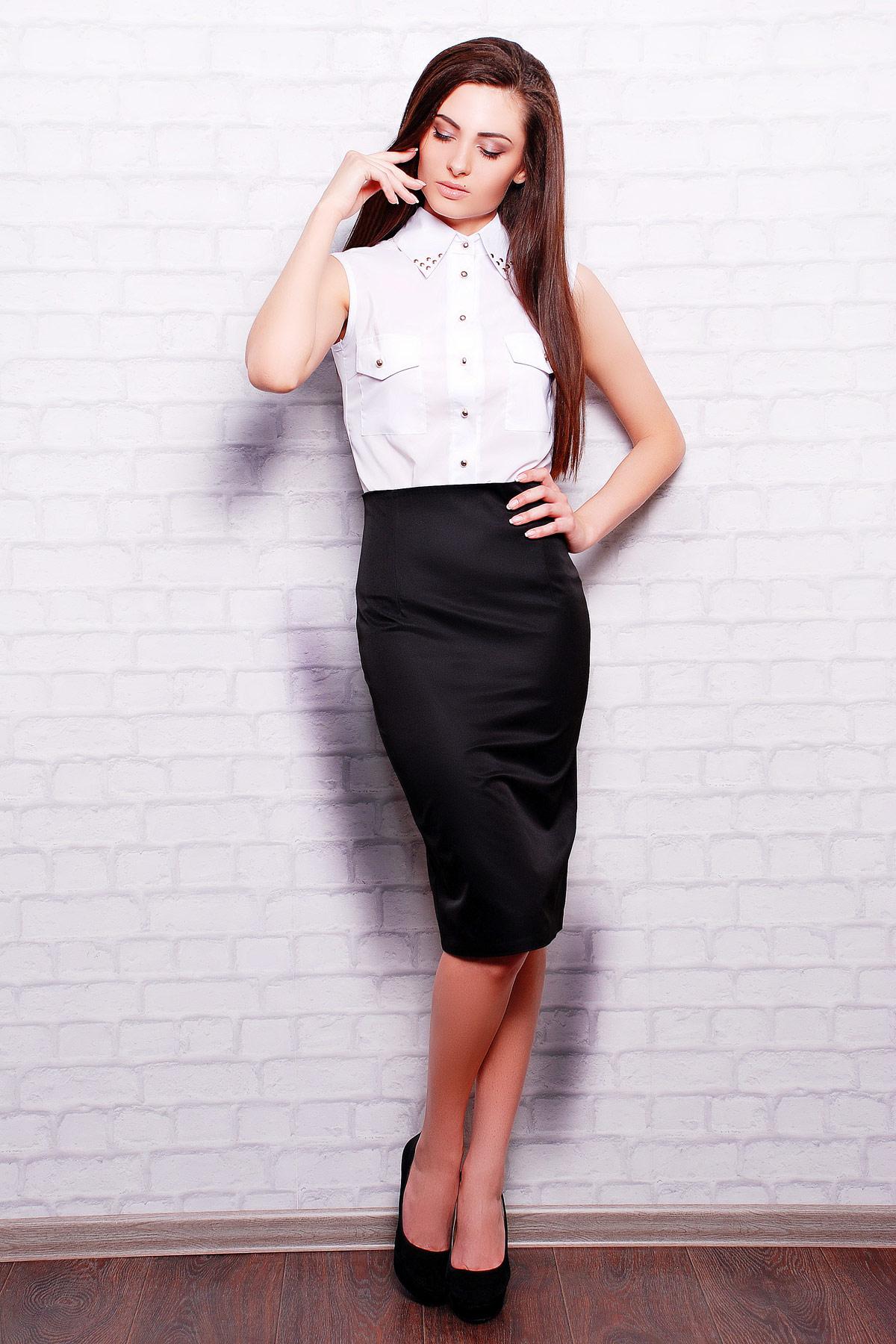 юбка-карандаш черного цвета. юбка мод. №11. Цвет: черный