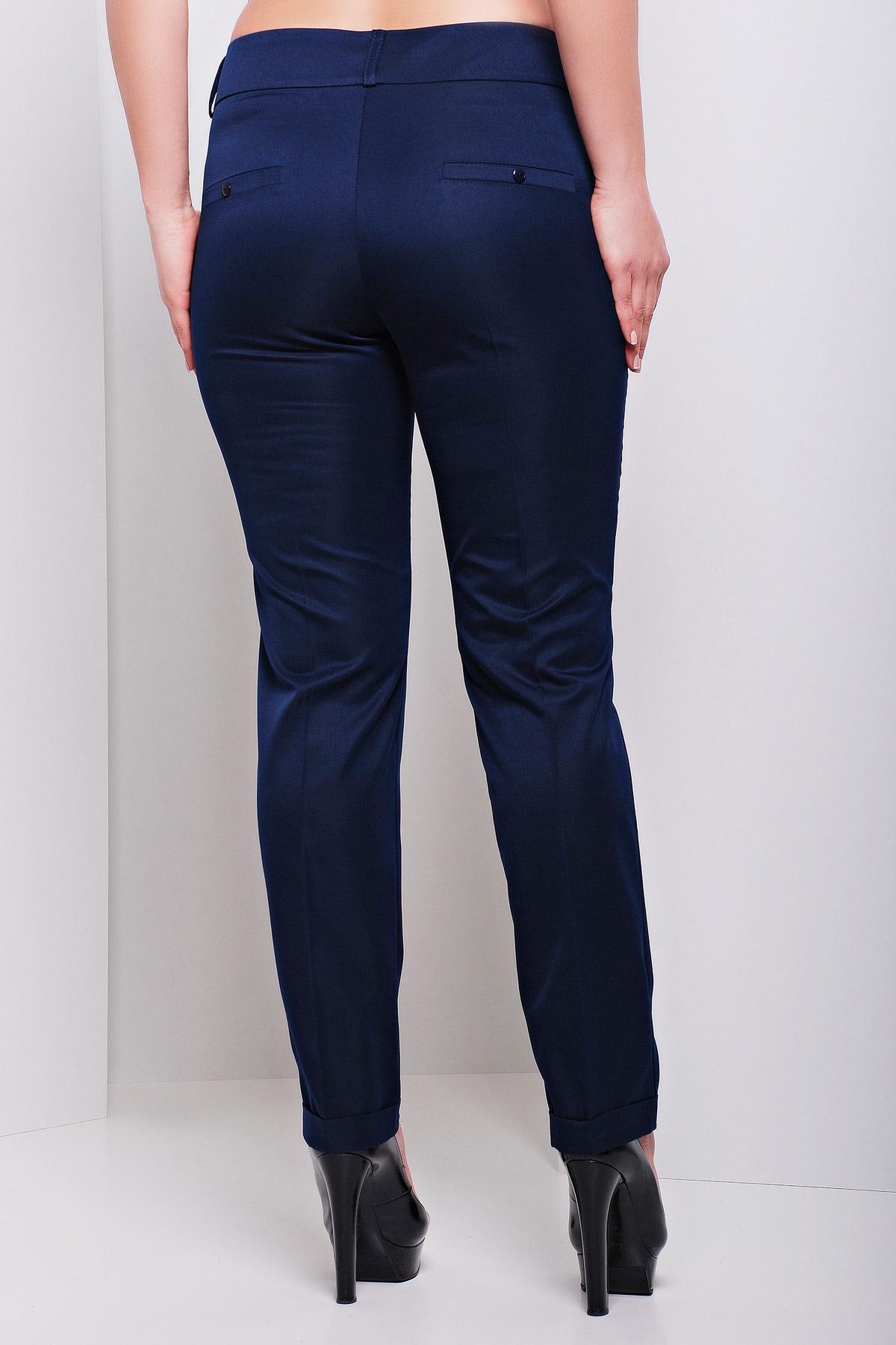 женские белые классические брюки большого размера. брюки Хилори-Б. Цвет: темно синий