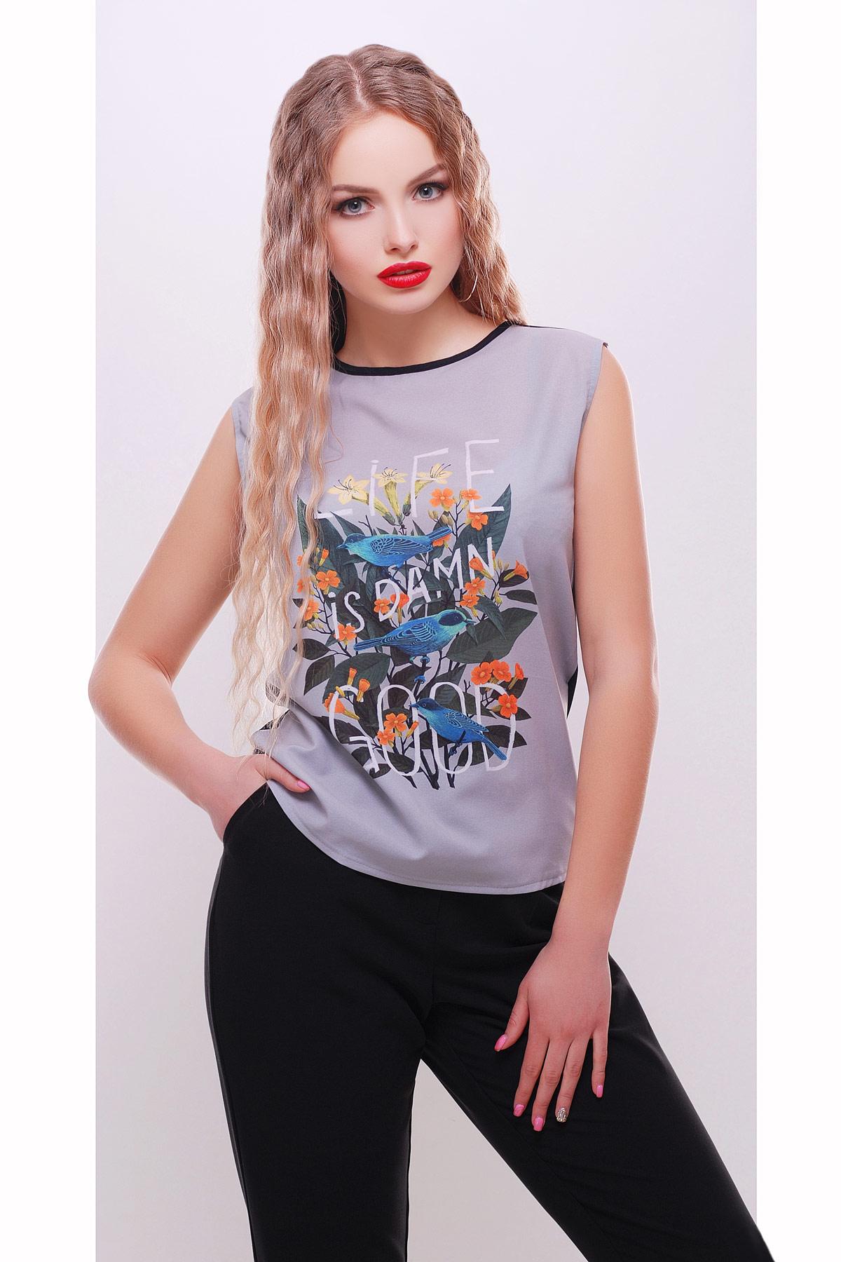 Цветы-птицы футболка Киви б/р