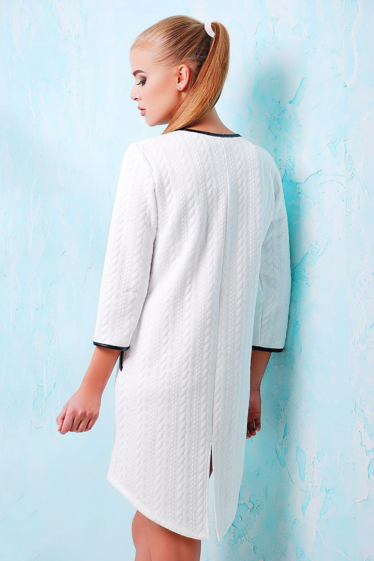 . платье Фрэнки д/р. Цвет: белый-черная отделка