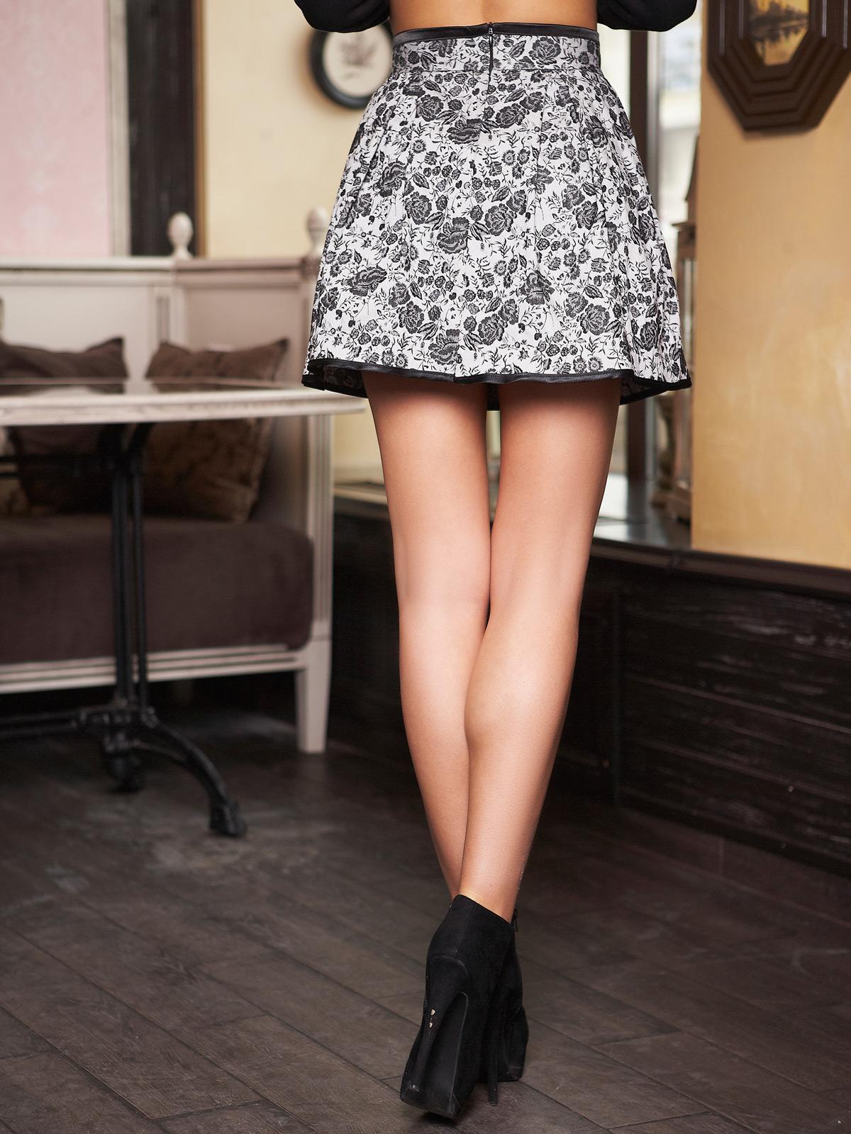 . юбка мод. №7А. Цвет: черный-черная отделка