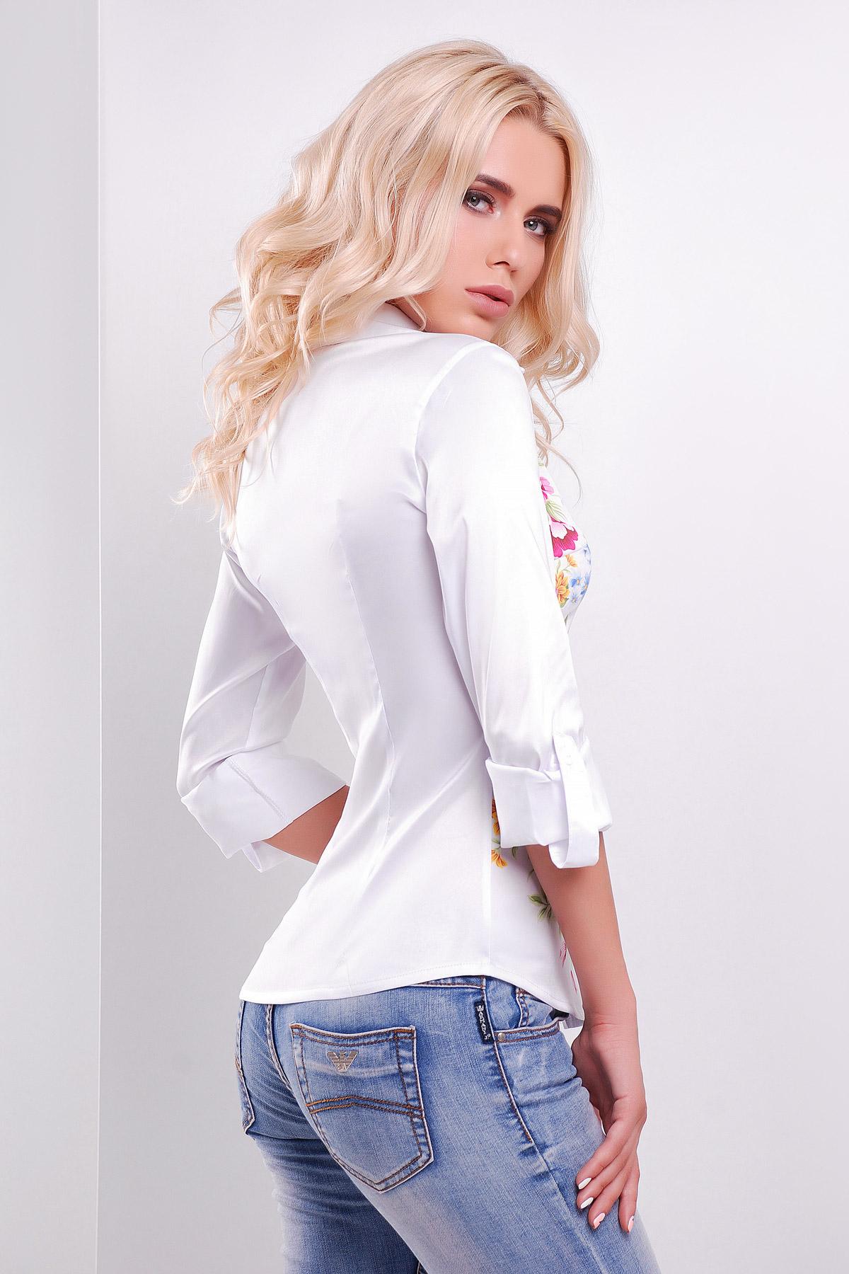 Полевые цветы блуза Ларси д/р
