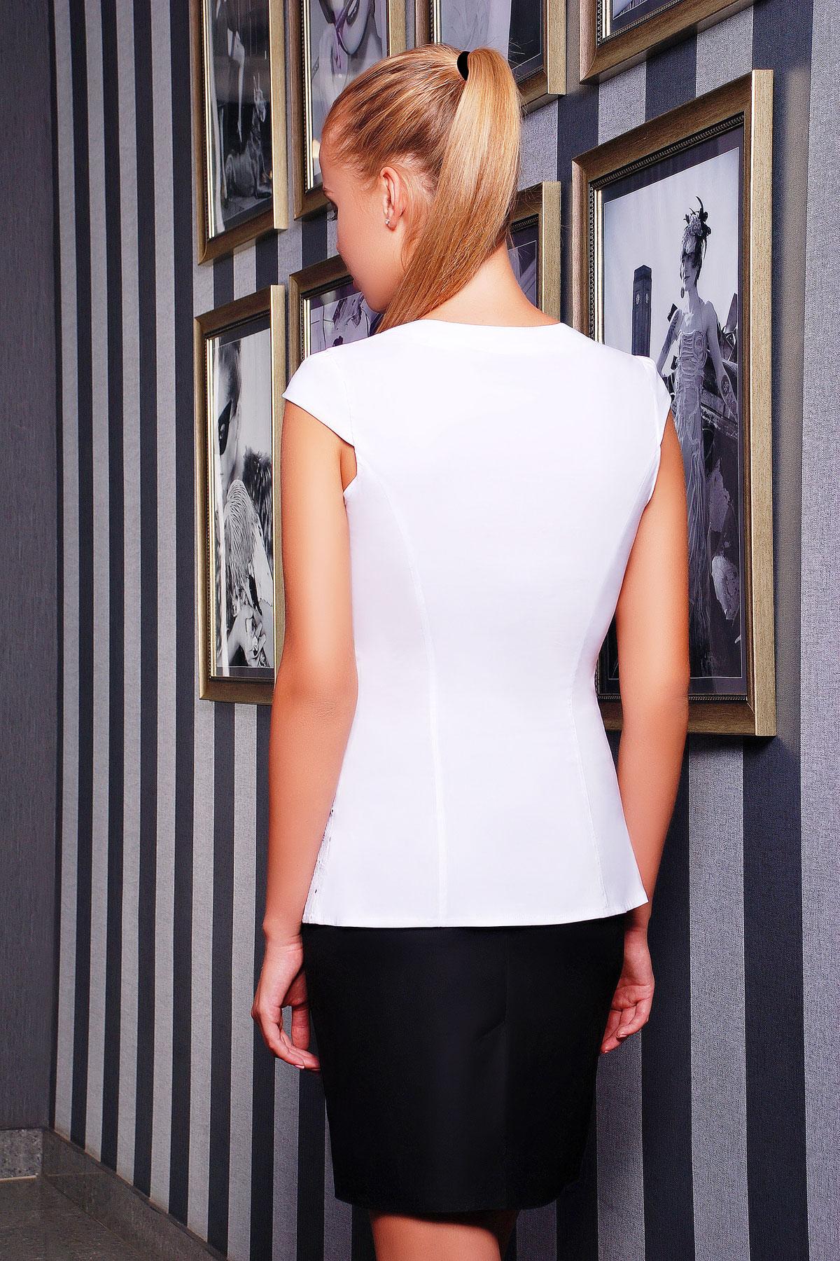 Блузка без рукавов белая купить