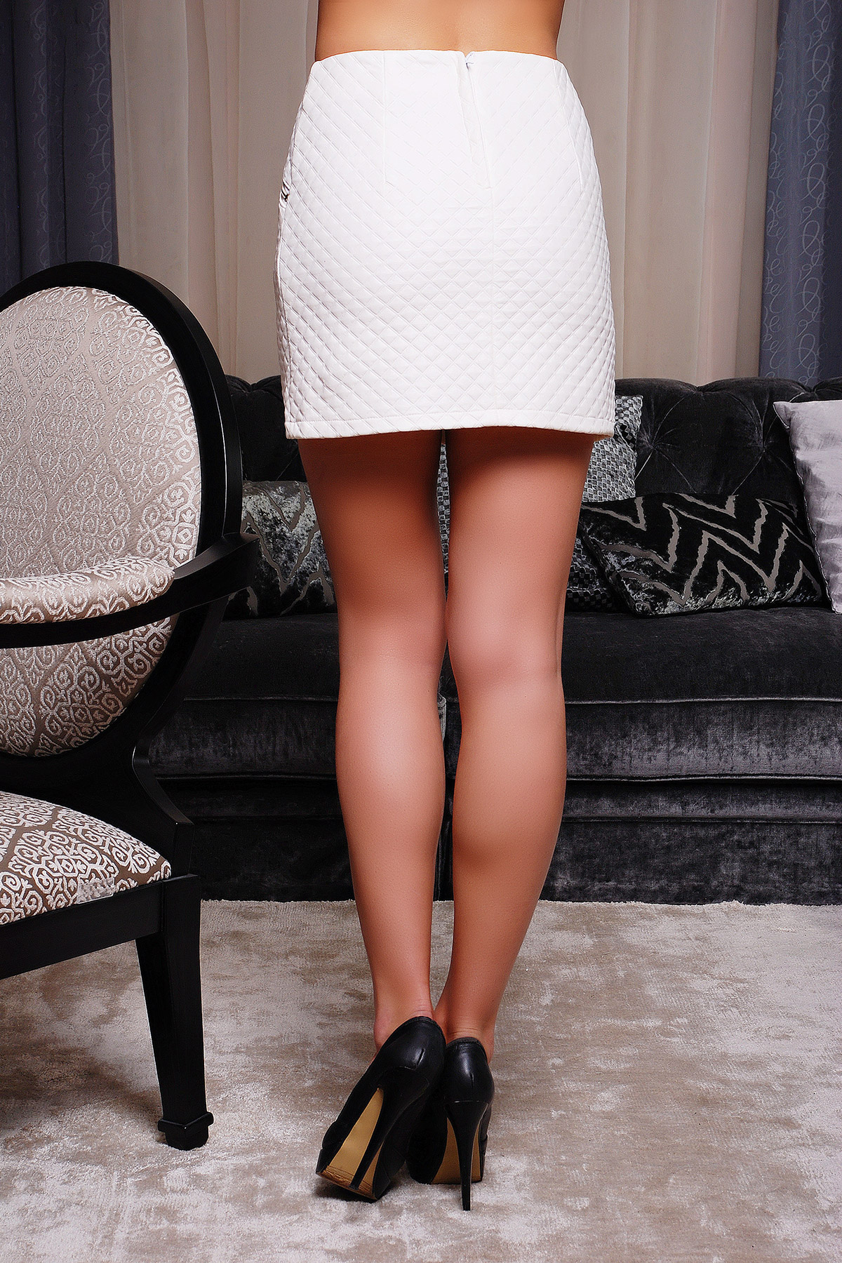 . юбка мод. №6. Цвет: белый