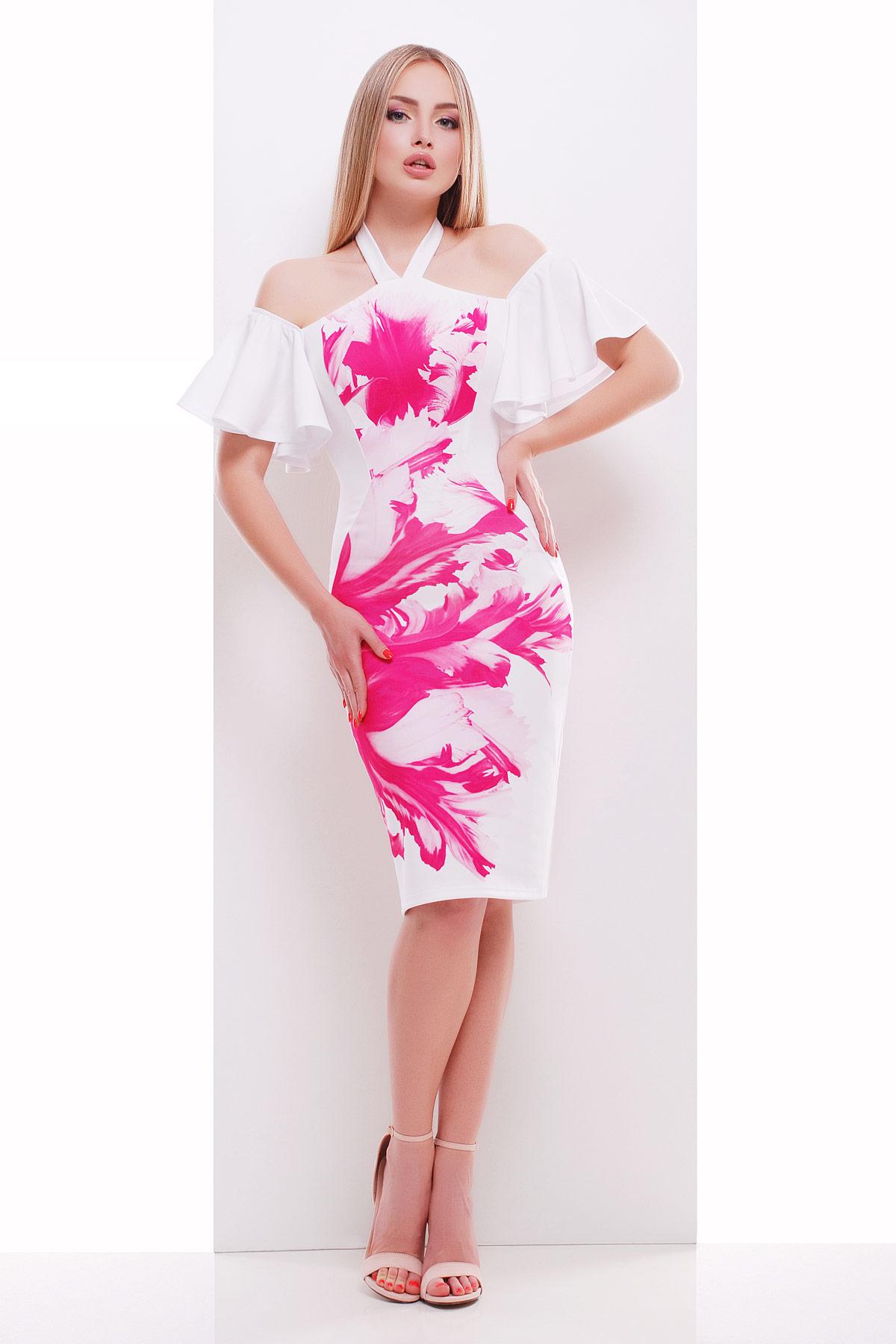 Розовый бриз платье Клариса к/р