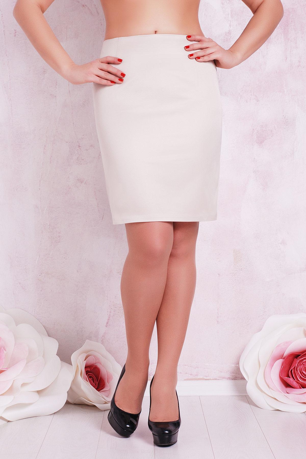 Прямой юбки для полных