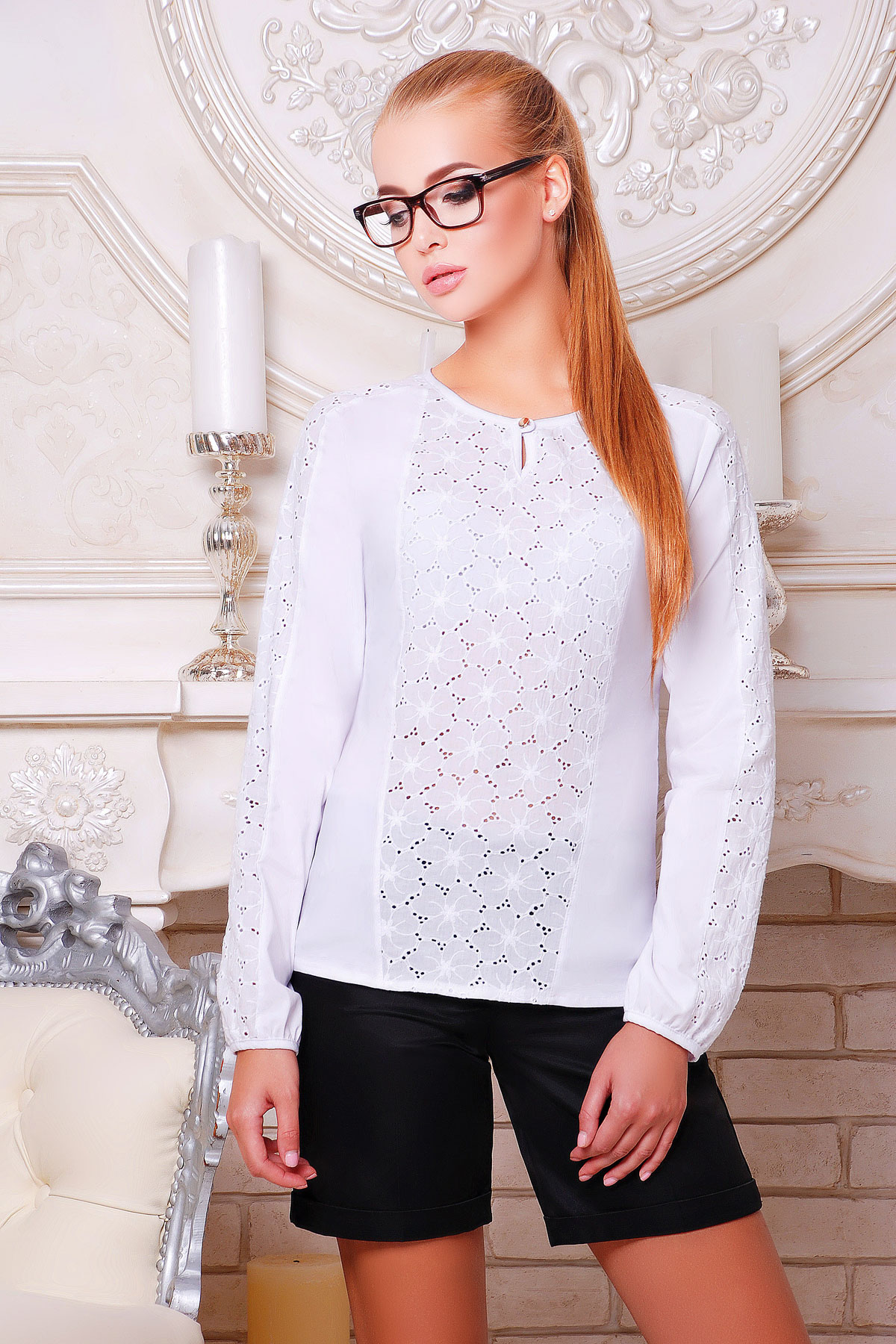 Купить женскую блузку с длинным рукавом в интернет магазине