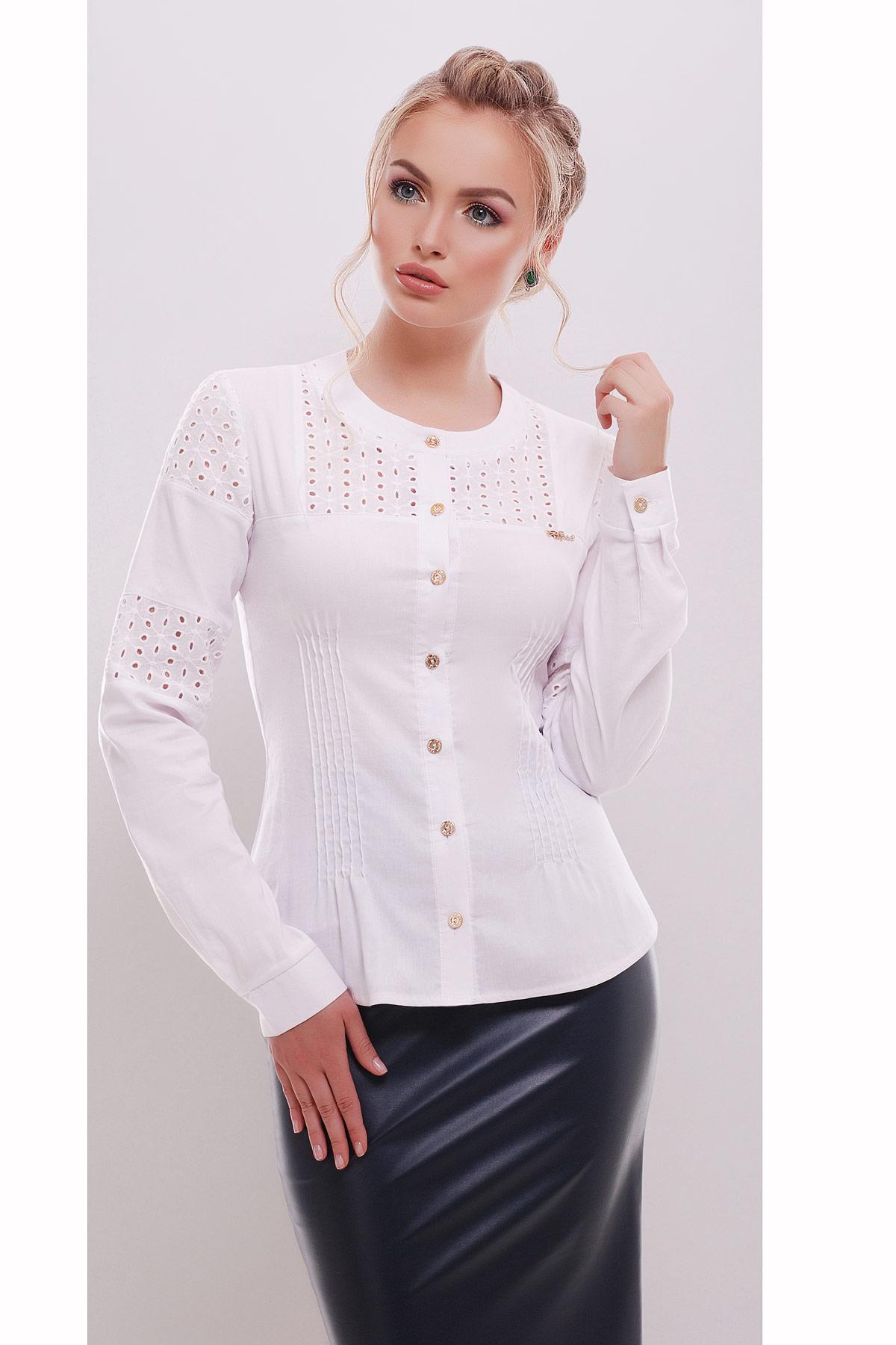 Где купить белую женскую блузку