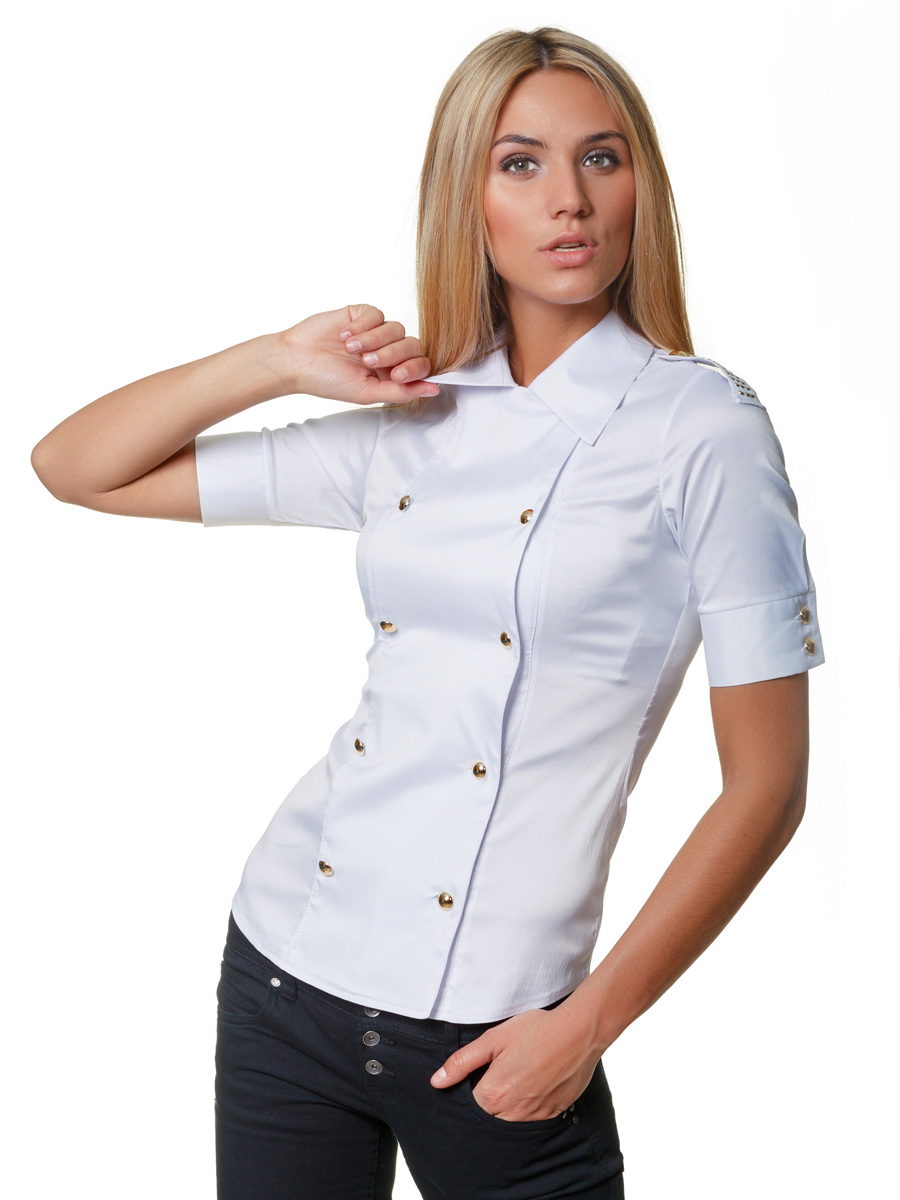 . блуза Эстель к/р. Цвет: белый