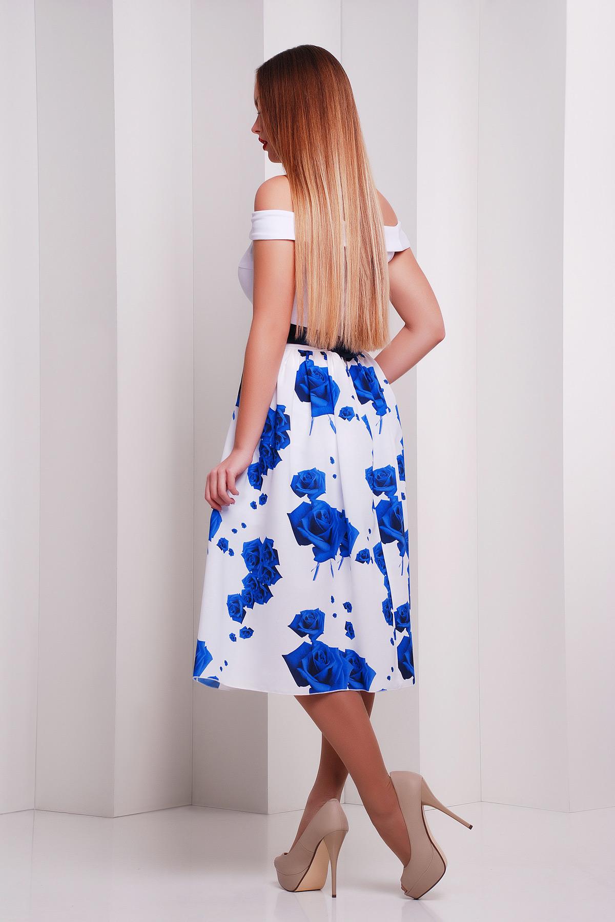 Розы синие платье Эмми б/р