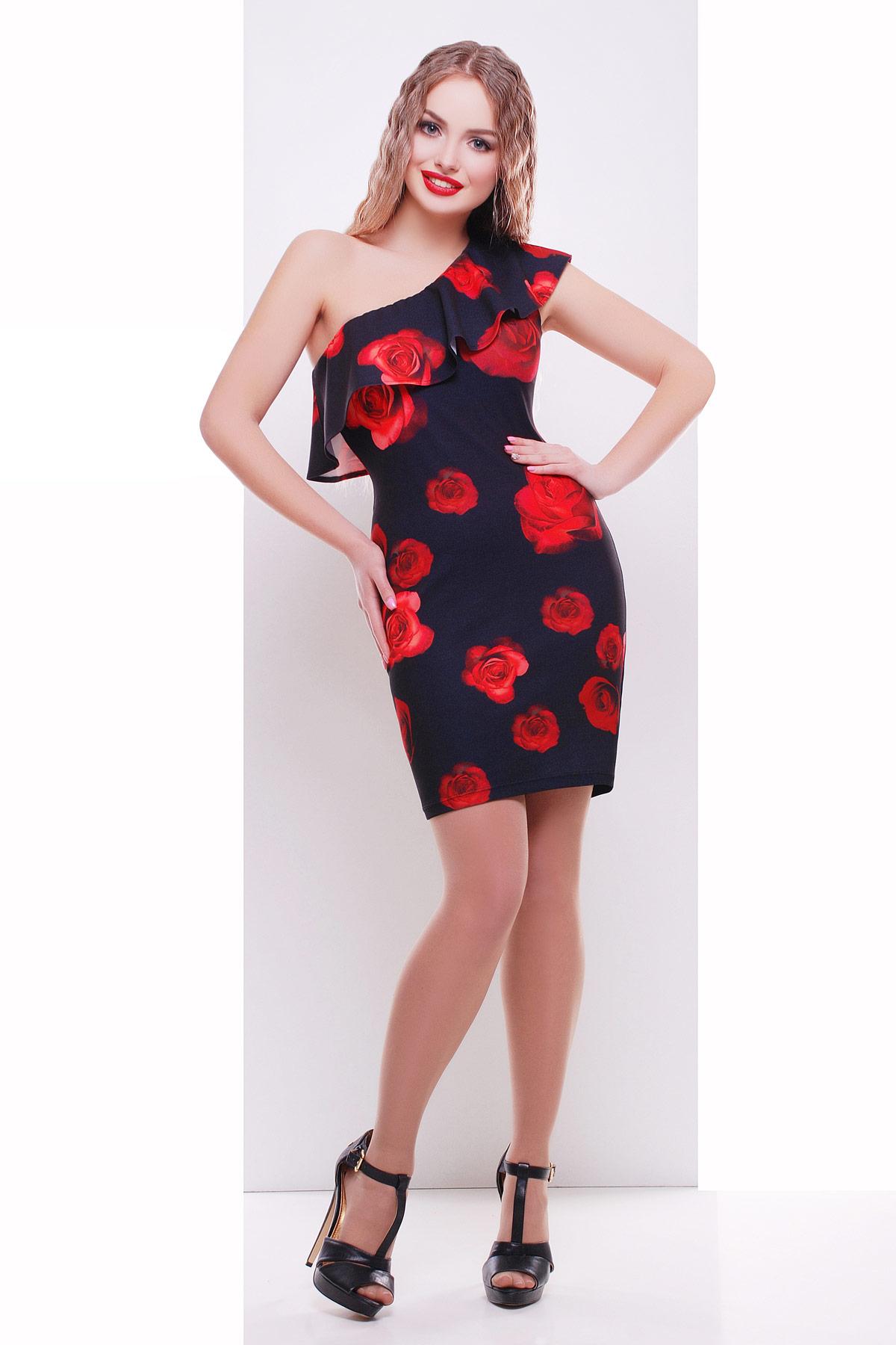Розы красные сарафан Риола