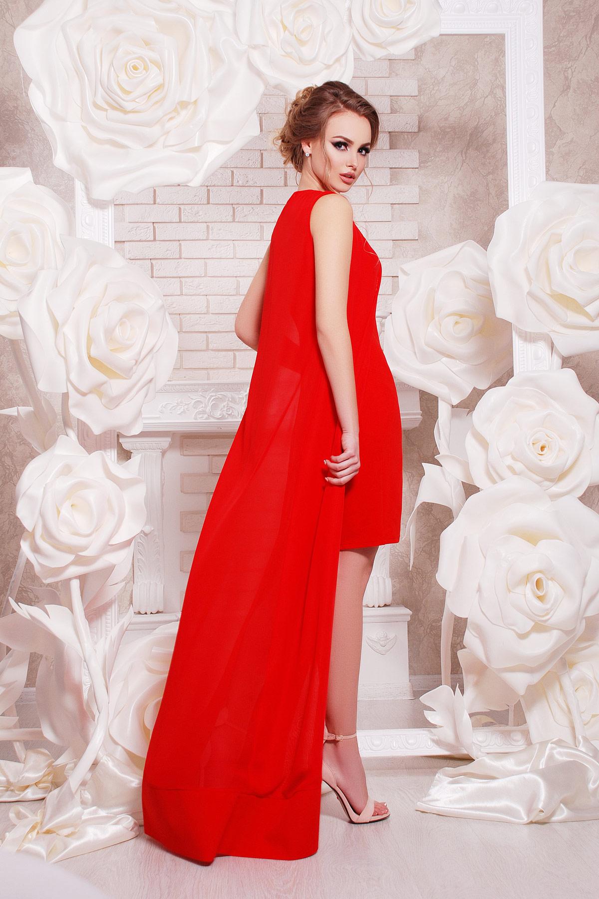 темно-синее платье-двойка на выпускной. платье Ясмина б/р. Цвет: красный
