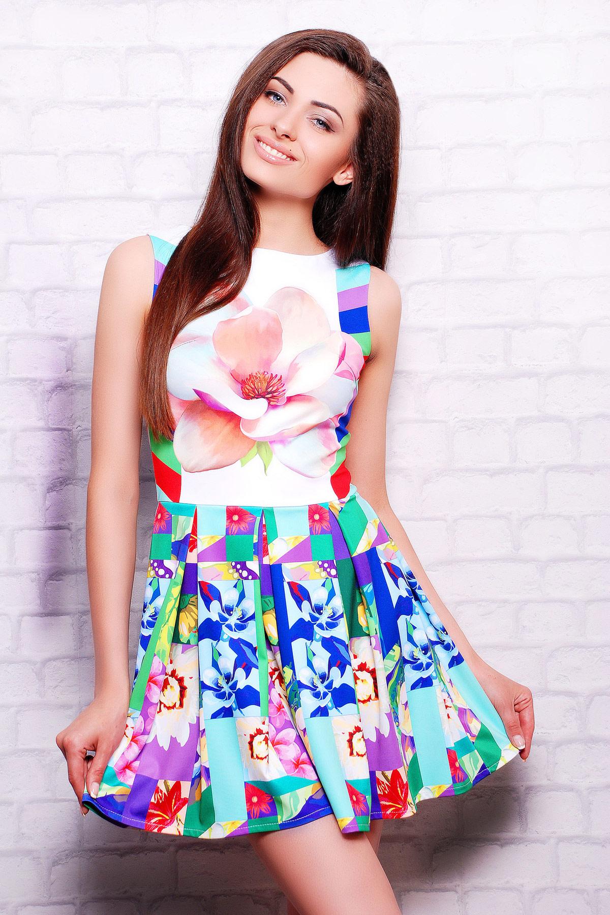 Цветочная абстракция платье Мия-2 б/р