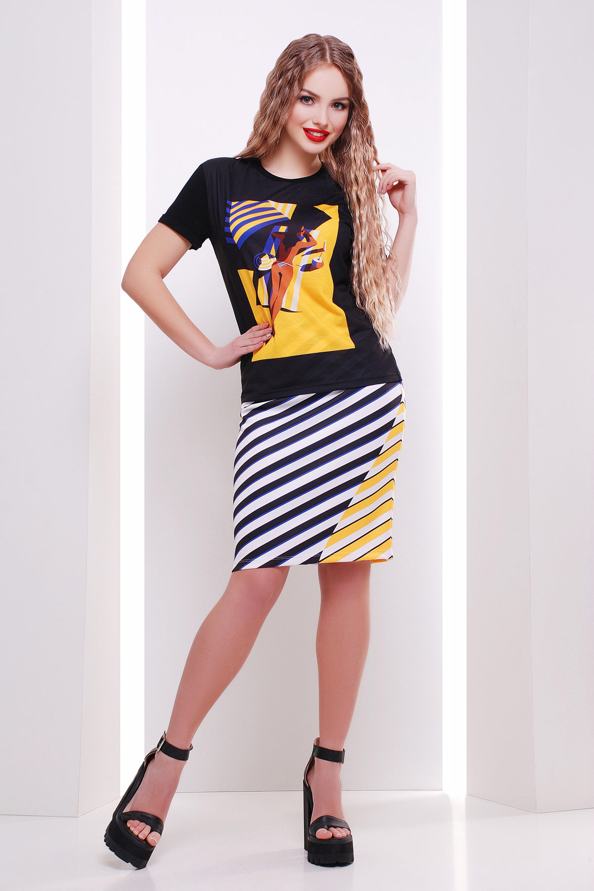 Полоска юбка мод. №14 Оригами