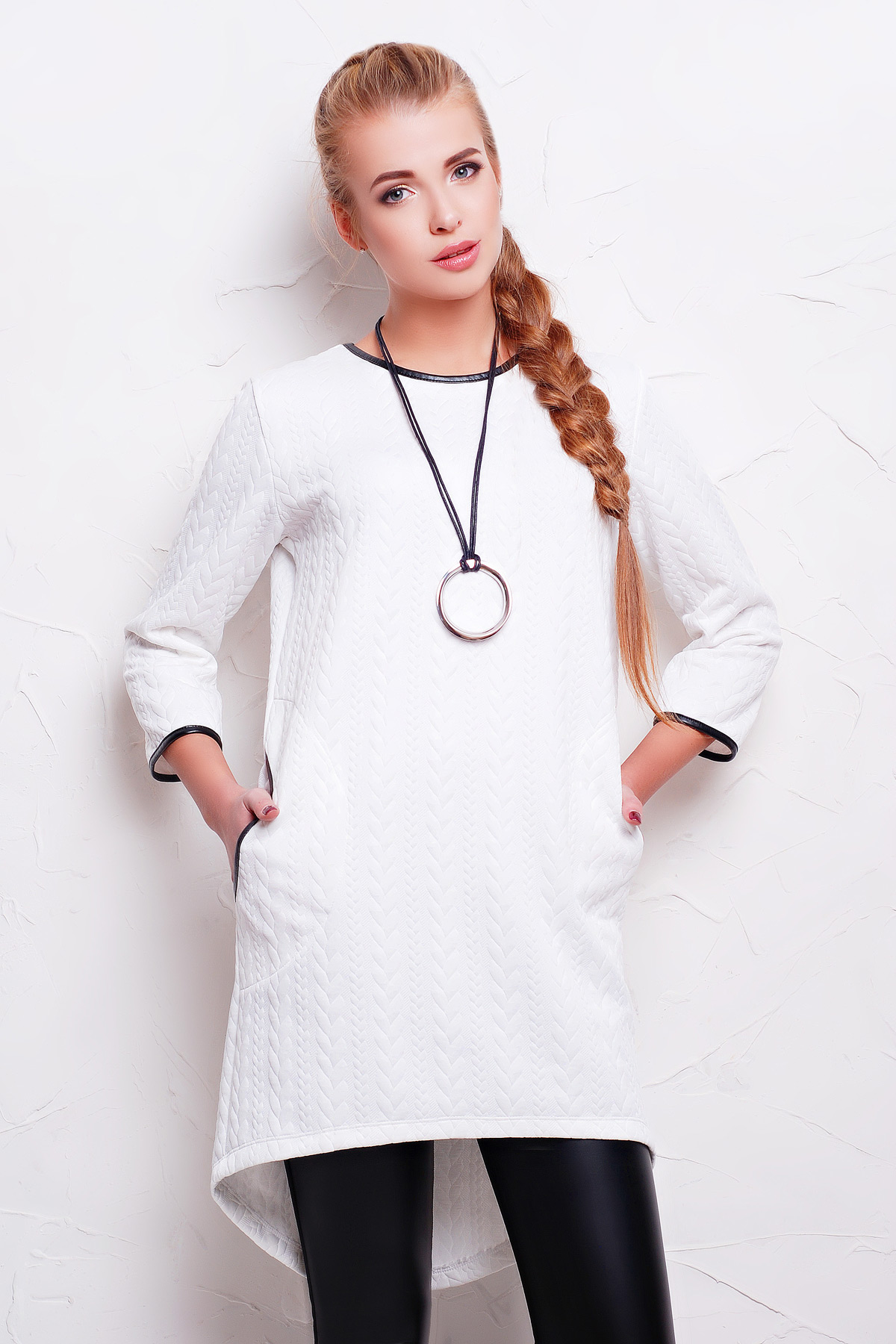 . платье Фрэнки2 д/р. Цвет: белый