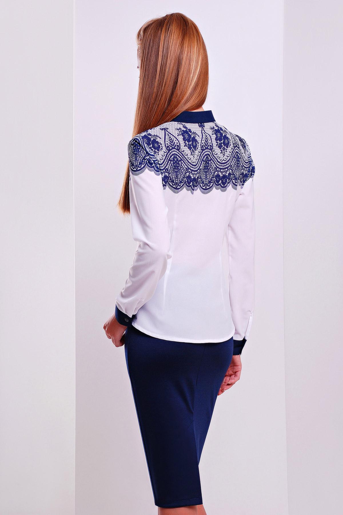 Кружево синее блуза Есения д/р
