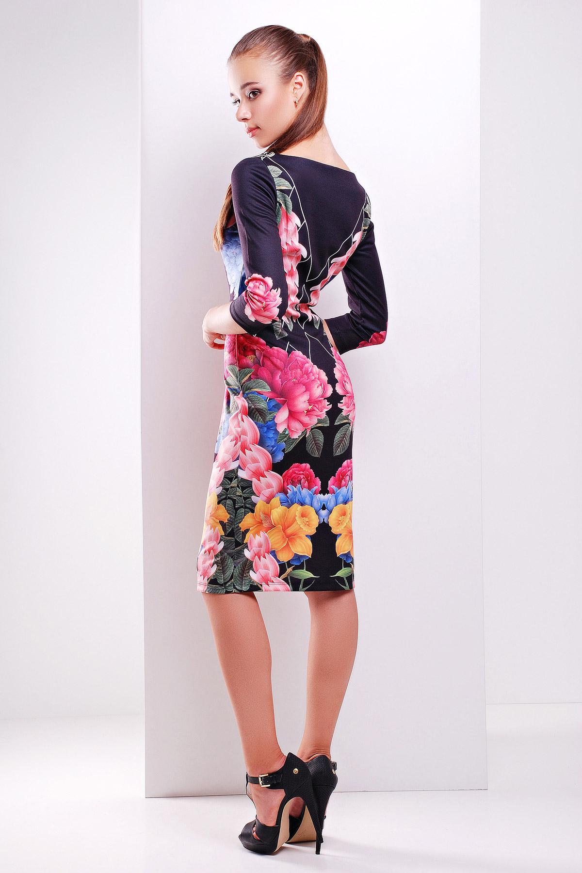 Цветочный сад платье Лоя-1Ф д/р