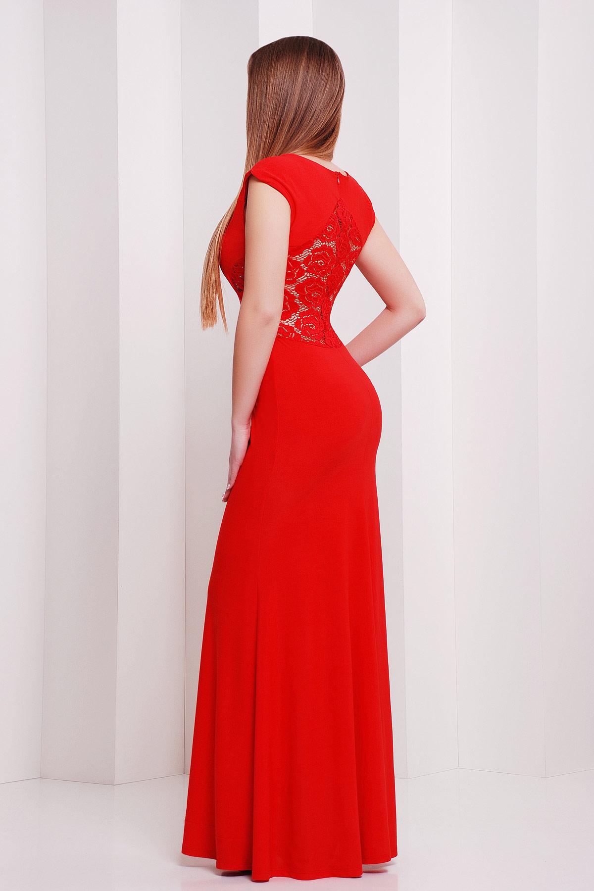 Красный платье длинное