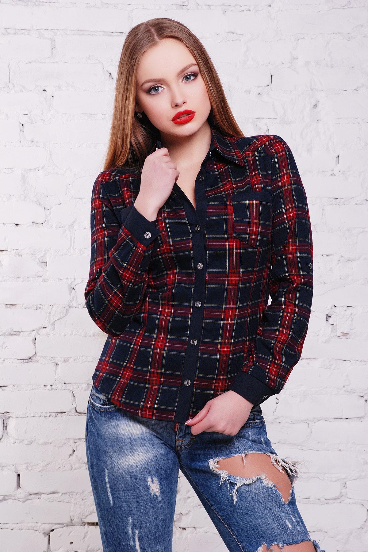 блуза Шотландка2 д/р