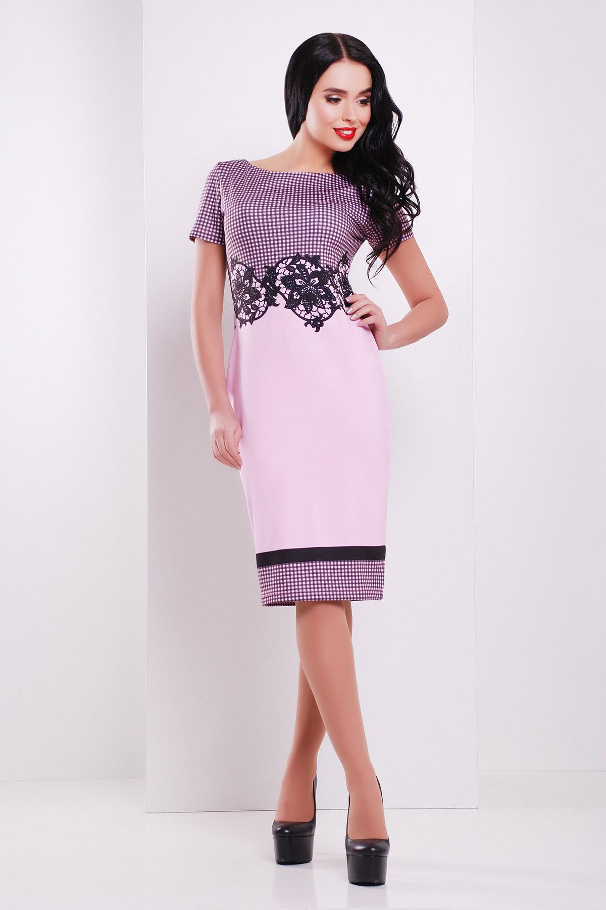 Лорета розовый платье Лоя-1 КД к/р