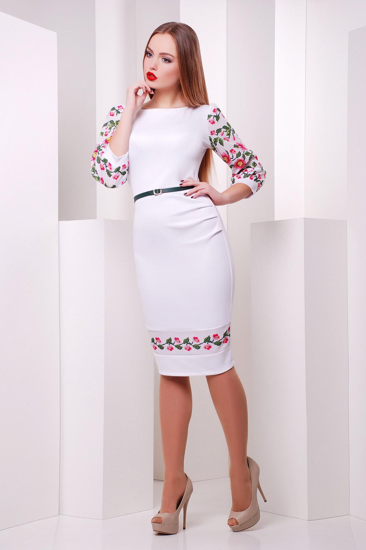 Цветы-орнамент платье Андора д/р