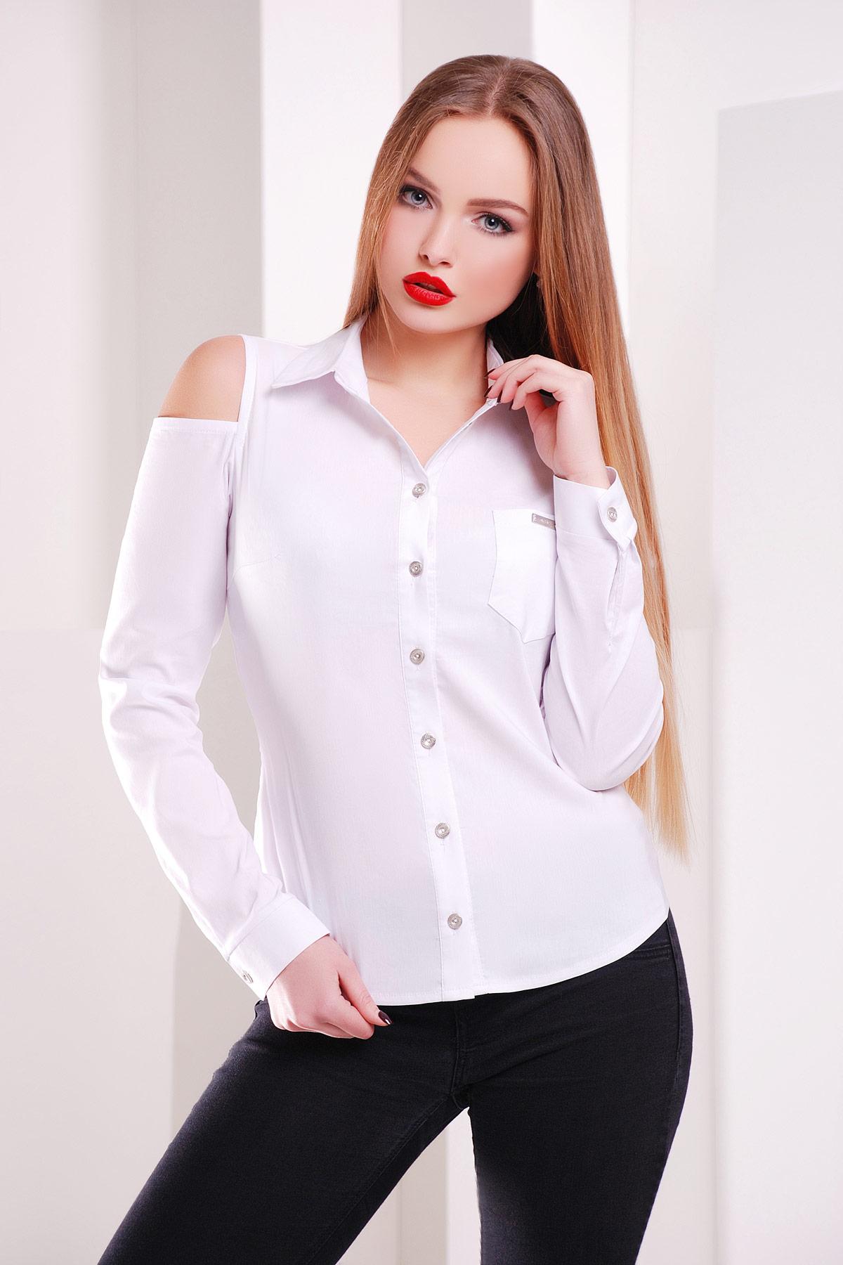 Купить белую блузку с