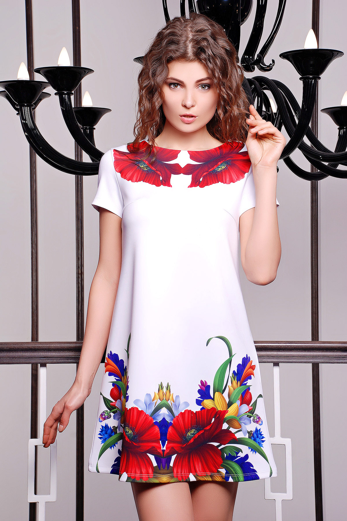 Маки платье Тая-2 к/р