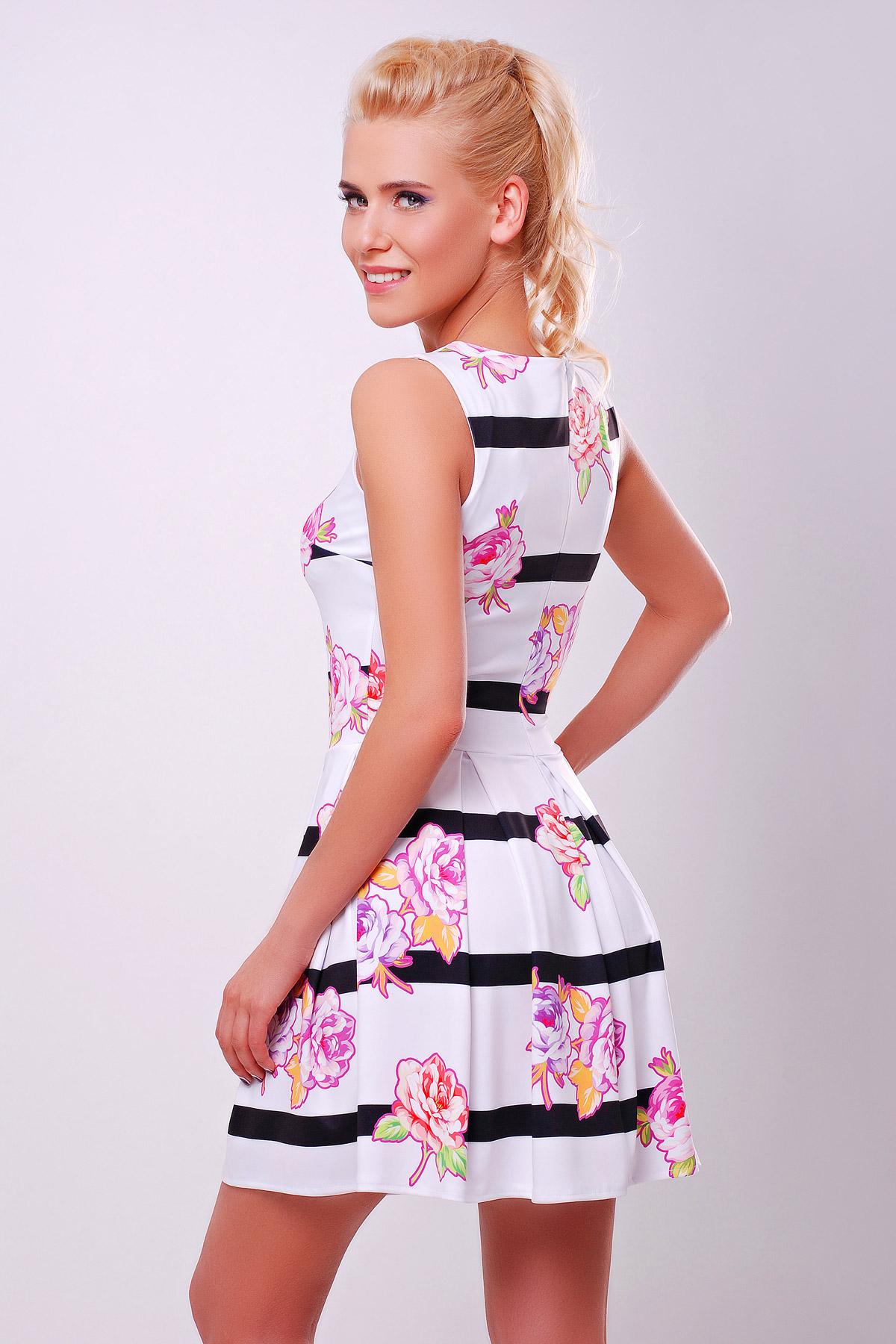 Цветы-полоска платье Мия-1 б/р