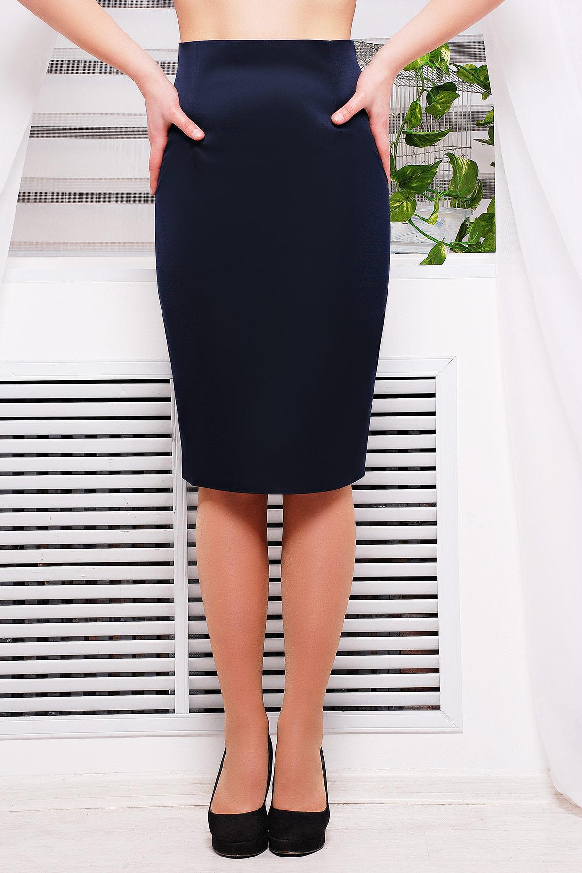юбка-карандаш черного цвета. юбка мод. №11. Цвет: темно синий