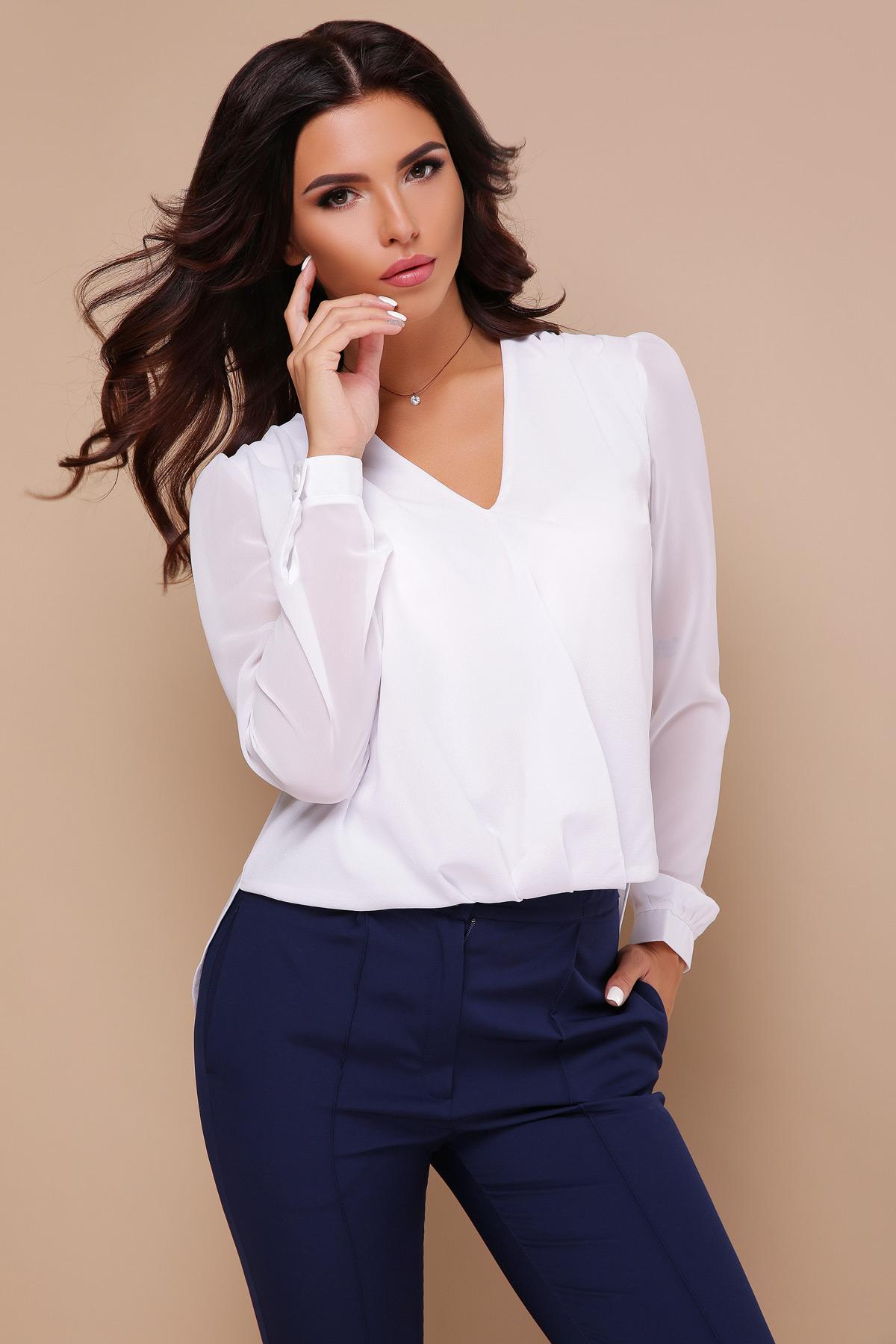 ff5bdb0d603 ... блуза Айлин д р - белый . . Цвет  белый