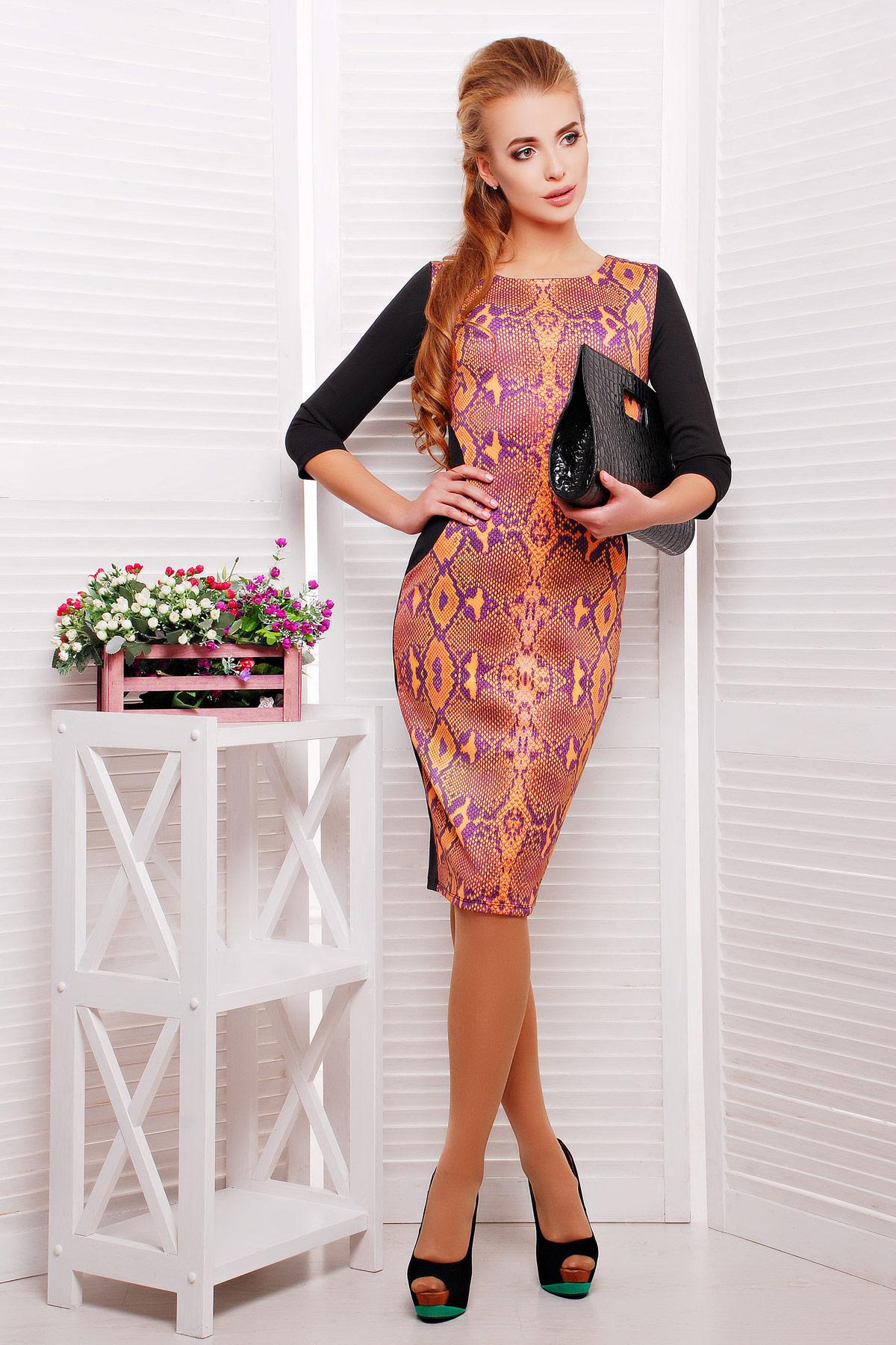 Питон оранжевый платье Саламандра д/р